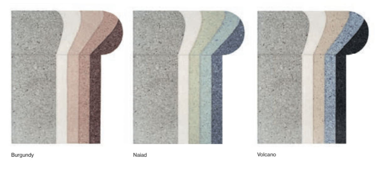 Nuances Round Rug - <p>The Nuances collection consists of three rugs and a pouffe made by hand. Investigating with different colours and densities, Patricia Urquiola was able to reinvent the wool felt, giving it a novel and transgressive stone-like appearance. Nuances uses this innovative material to combine different colours and pieces of felt, all entirely sewn by hand. The result vindicates the coexistence between craftsmanship, innovation and sustainability that define both GAN and the designer. The technique used it felt and embroidery and due to the handmade nature of the GAN product, slight variations in size, colour, finish are normal.</p>