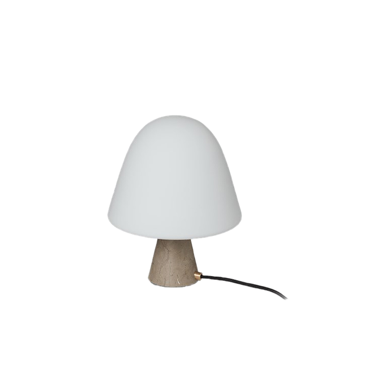 Meadow Table Lamp - Meadow is a table lamp that balance materiality with light. A simple composition of a dome-shaped shade that is mirrored in the more diminutive stone base gives Meadow an organic, unassuming look.  Fredericia introduces Complements – A new line of material-driven pieces conceived as collector's items to complement our portfolio.   Complements is a new collection of designs that join our main collection of furniture. A line of collectibles rooted in our passion for materiality comprised of functional pieces with aesthetic qualities that are equally appealing as decorative elements. From objects and small functional furniture to hidden gems from our archives with a renewed relevance.   With Complements, we expand on our expertise with materiality to encompass a range of accessories and furnishings that - together with our line of furniture - create a look and feel for an entire interior or concept.   Drawing on our legacy of working with wood and leather, we've explored other materials with textures, colours and compositions that bring an extra dimension to the atmosphere. The result is a celebration of materiality in well-considered concepts that are refined, authentic, inviting and crafted to last.   We're always open to designers, where we feel a strong connection with their work and a mutual mindset. For Complements, we've engaged with the next wave of new talent in Denmark and abroad. Both new and established names, who share our affinity for honest materials and purposeful design.   Complements remains true to our design heritage at Fredericia while staying in tune with the world at large. Each piece is distinctive, yet they all reflect our pioneering spirit to create essentials with presence and permanence.   Collectibles to cherish now – and for generations to come. | Matter of Stuff