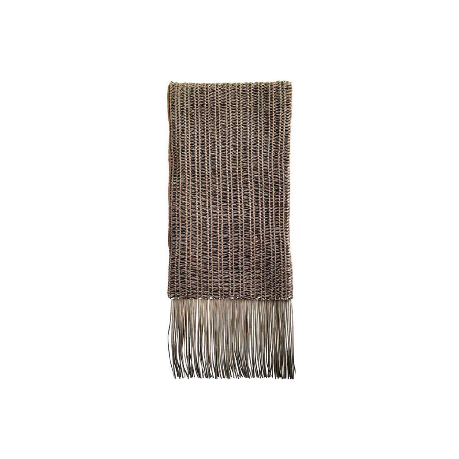 Corda Fringe Woven Leather Throw - The Corda Fringe Woven Leather Throw is designed to complement an ambient setting with natural and sophisticated feeling. Elisa Atheniense woven leather pieces, are handmade and manufactured in Brazil using an exclusive treated leather that brings the soft feel touch to every single piece.  Bespoke sizes and colours are also available upon request, see colour chart for reference. | Matter of Stuff