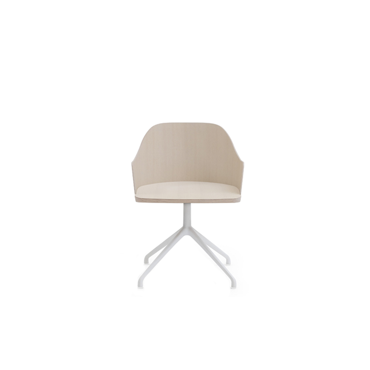 Fitt Swivel Armchair - This is the wooden chair as Billiani intends it, direct and timeless. The Valencian designer's intention is for versatility of use and multiple applications, with a striking level of comfort and intriguing proportions. The Fitt Classic collection starts with the light and refined ash chair with plywood shell. Alongside this, are armchair versions with a choice of lacquered metal frames: on four legs, sled, and swivel base. All models are available with wooden or upholstered seat.  | Matter of Stuff