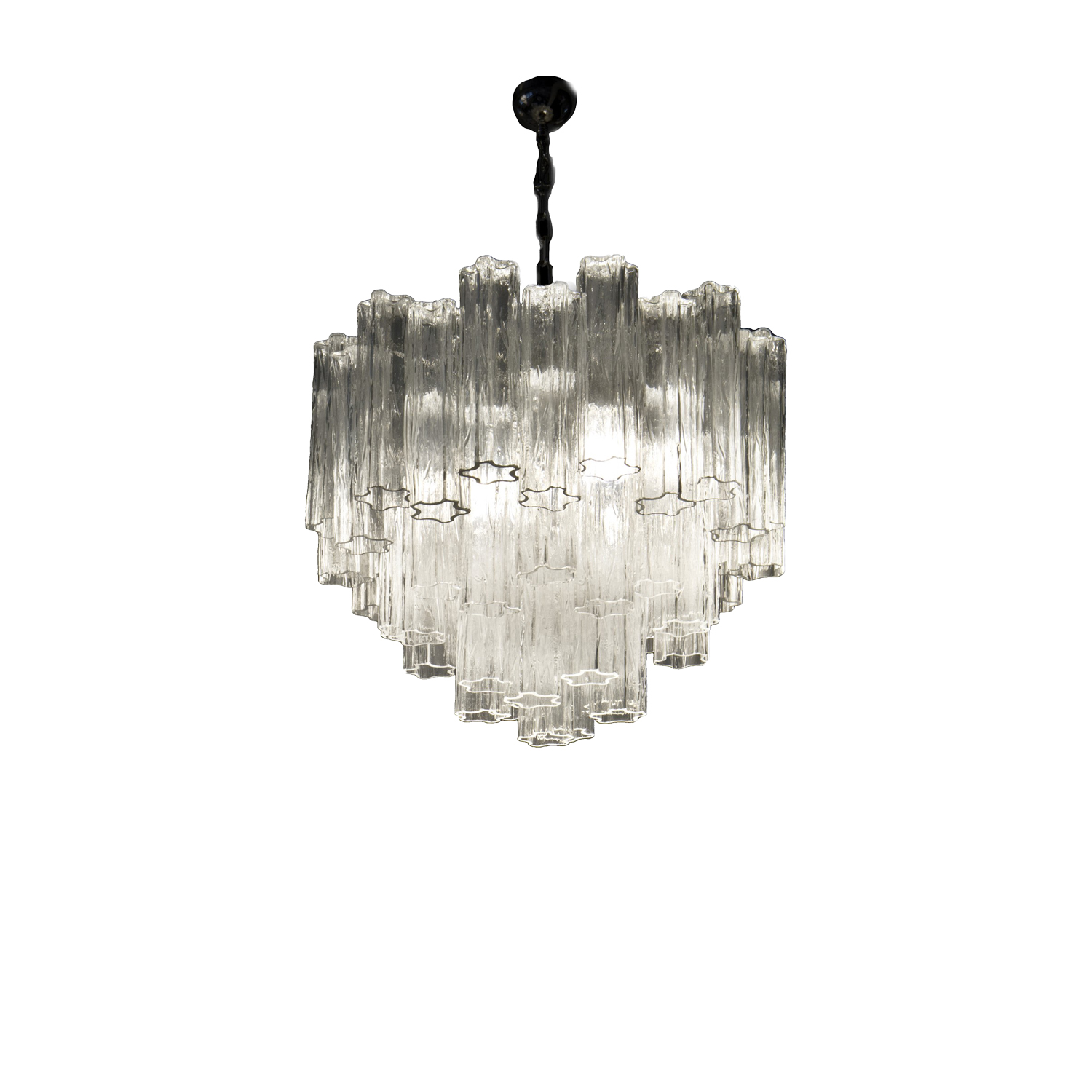 Wood Chandelier - <p>This chandelier, made with original Murano techniques, has 7 lights bulb that create elegant and refined reflection. It is possible to personalise the chandelier in different forms, number of lights and glass elements.</p>  | Matter of Stuff