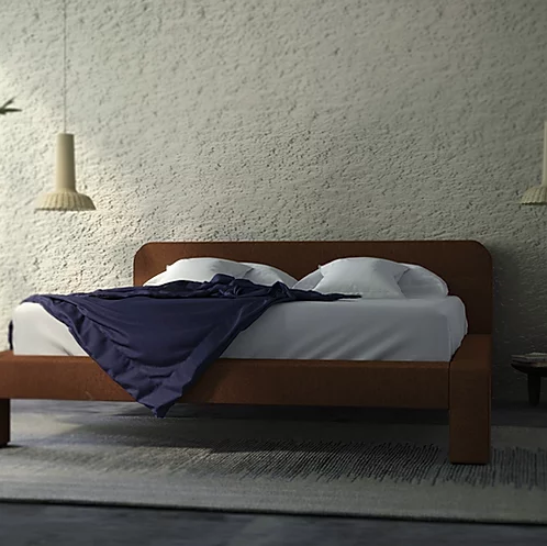 """Toptun Bed - """"Toptun"""" in Ukrainian means the one who loudly tramples. TOPTUN bed created with the idea of """"soft geometry"""" design — simple shape, yet very eminent silhouette.<br /> The size of the bed is for 200x180 cm size mattress. The mattress is not included, recommended mattress height 25 cm.</p>  