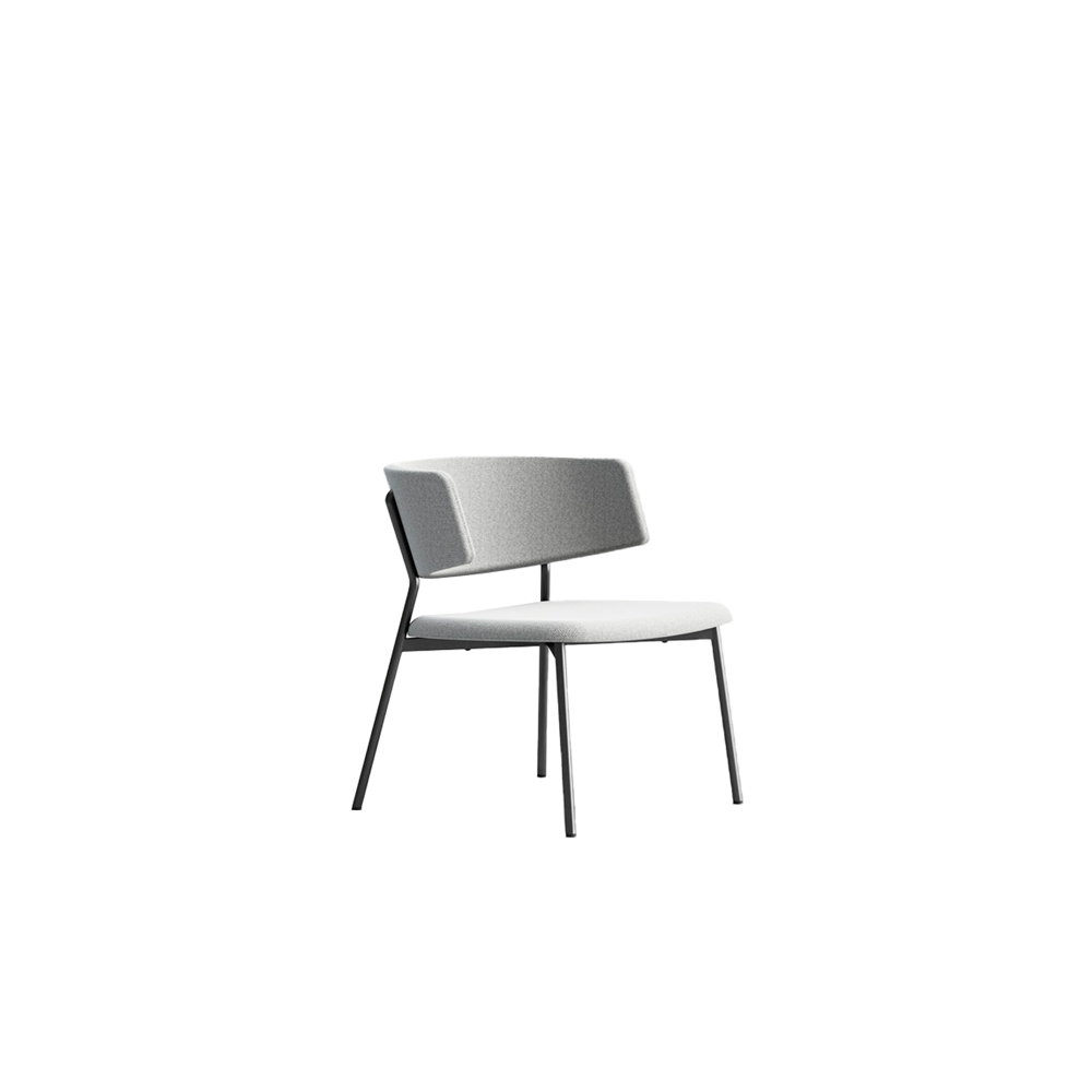 Wrap Steel 6C74 Chair - The metal-chic collection that manages to combine elegance with simplicity. Comfortable and functional, Wrap Steel emits signs of a transversal style. Chair comes in a lacquered steel frame, with fabric, leather or eco-leather upholstery. Brass finish for the frame is available too.  | Matter of Stuff