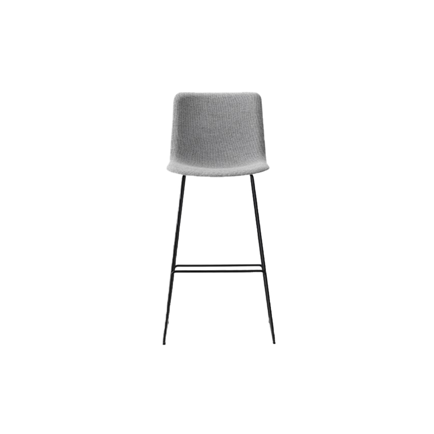 Pato Sledge Barstool Fully Upholstered - Pato is a carefully crafted multipurpose chair in eco-friendly polypropylene that can be used outdoors. The chair is available with a range of optional features including coupling. The chair can be tuned from basic to exclusive with optional upholstery.