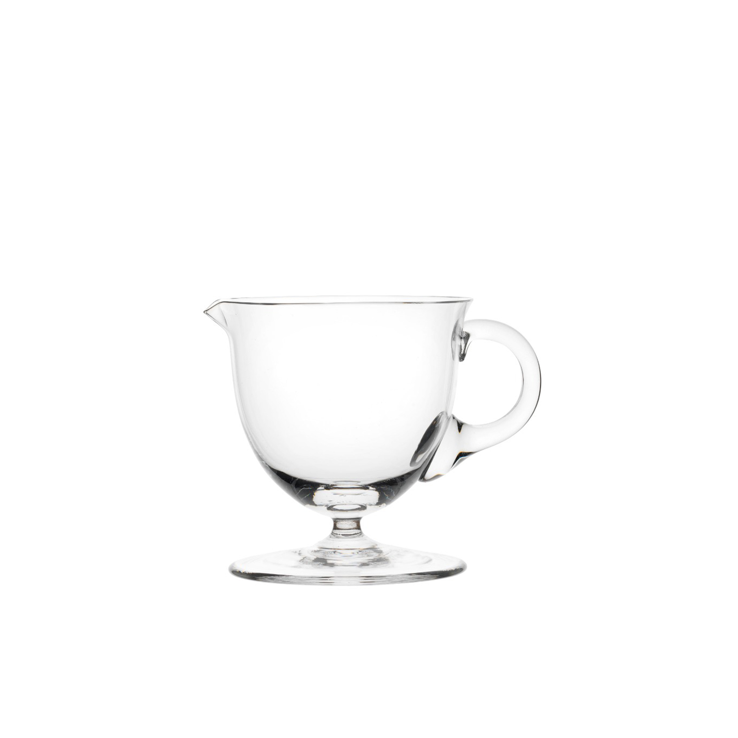 Drinking Set No.238 Milk Jug - Set of 6 - The perfectly flowing contours of these original Josef Hoffmann shapes make this muslin glass series a classic. This elegantly balanced stemware was designed by Hoffmann for Lobmeyr already in 1917. The material - very fine (muslin) glass, mouth-blown in wooden moulds provides perfect elegance for these glasses.  | Matter of Stuff