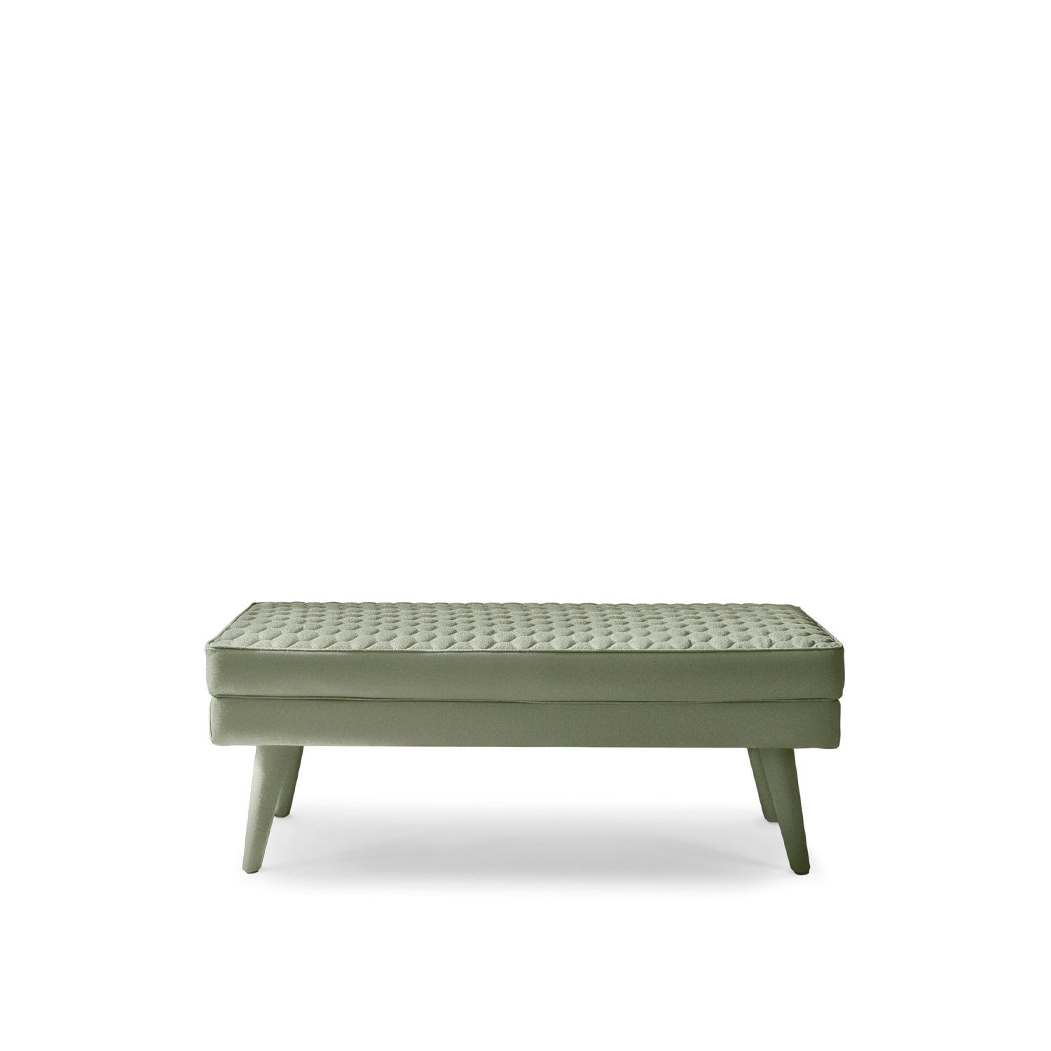 Corolle Bench - This bench recalls the style of Corolle bed by the design of its stitching and completes the collection together with the poufs.‎ | Matter of Stuff