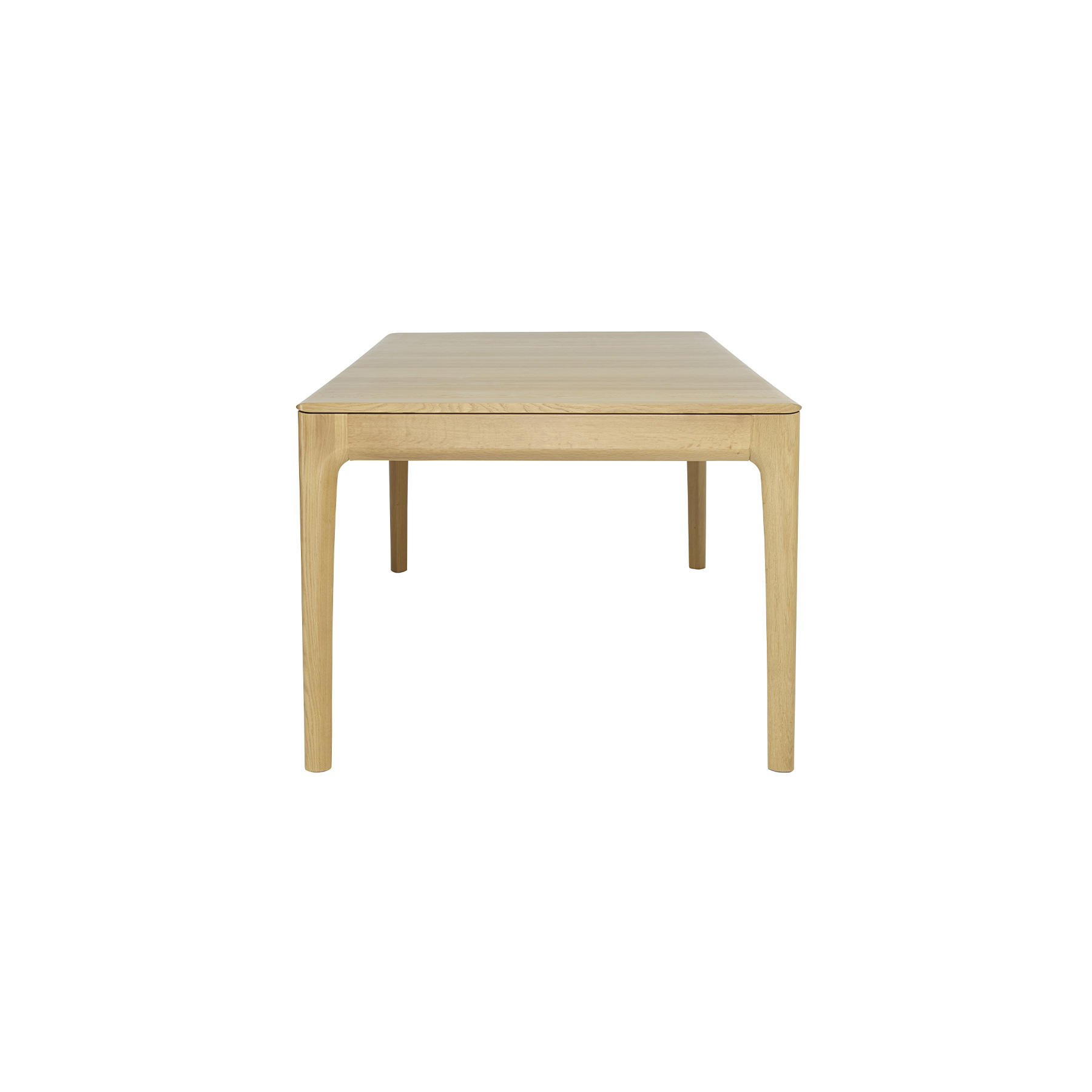 Romana Medium Extendable Table - <p>Romana is a modern dining and living-room furniture collection with soft curves and sophisticated craftsmanship that emphasises Ercol's skill in working with solid timber. Romana is made from pale oak and finished in a clear matt lacquer to both protect the timber and show off its beauty. This dining table seats six when closed and eight when extended.  The table features a reciprocating mechanism – pull on one end to extend and the other end opens at the same time.  The extension leaf is stored within the table as a butterfly mechanism – it is simply flipped open into place.<br /> Wood finishes and colour samples are shown for guidance only as screen colours may vary. We would recommend ordering a sample in your chosen finish. However, wood is a natural material and varies in colour, grain and structure.</p>    Matter of Stuff