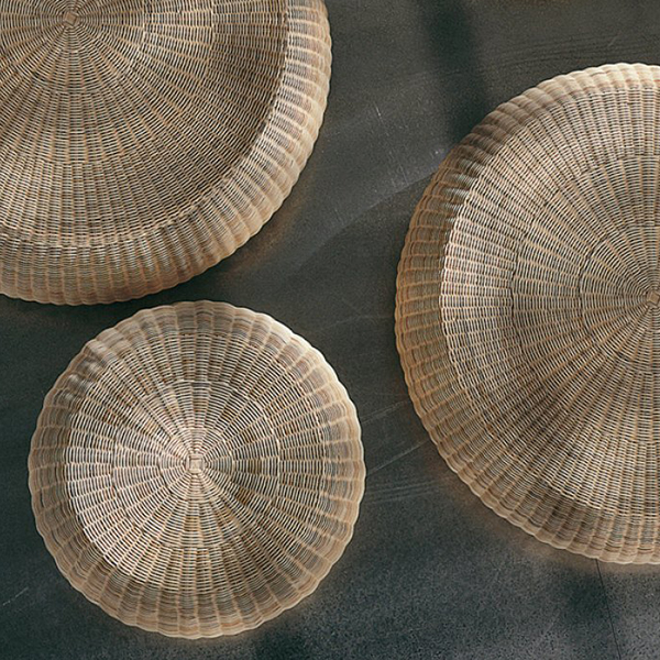 Bolla 15 Coffee Table - Bolla is a coffee table in natural melange rattan core. It is also available in matt white, grey, air force blue, black lacquered.   Matter of Stuff