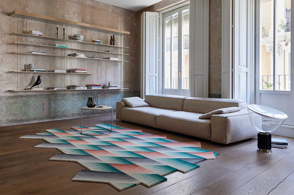 Mirage Rug - <p>Patricia Urquiola creates another modern classic accessory.Mirage, the new collection of rugs designed for GAN, is destined to become a treasured icon. Colour, geometry and superimposition are combined with this rug of pure New Zealand wool manufactured using the hand-knotted technique. Due to the handmade nature of the GAN product, slight variations in size, colour, finish are normal.</p>  | Matter of Stuff