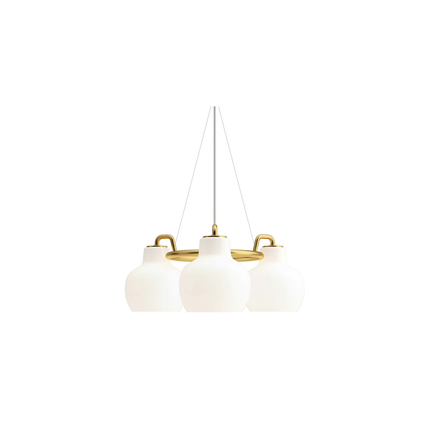 VL Ring Crown 3-5-7 Pendant Light - The pendant emits light directed primarily downwards. The opal glass provides a comfortable and uniform illumination of the area around the fixture.   | Matter of Stuff