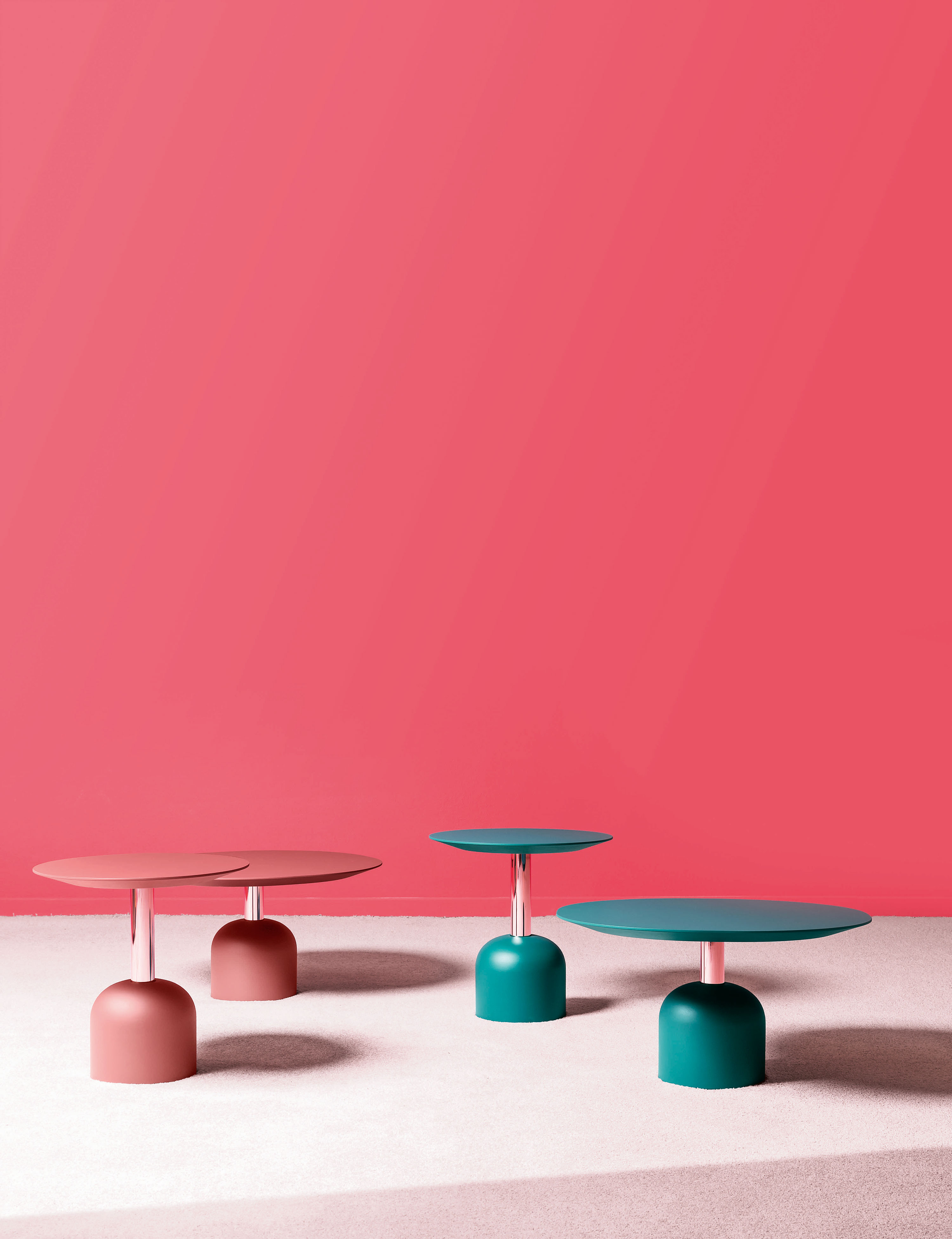 Illo Wide Dining Table - Illo's head is in the clouds. We have given it overemphasized forms to make it soft and welcoming. This quirky sculpture offers the perfect balance between function and fancy. Available in three versions, for dining rooms, bistros and lounge rooms. A range of materials, colours and sizes are available in a number of combinations. Prices may vary.  Please enquire for full details.  | Matter of Stuff