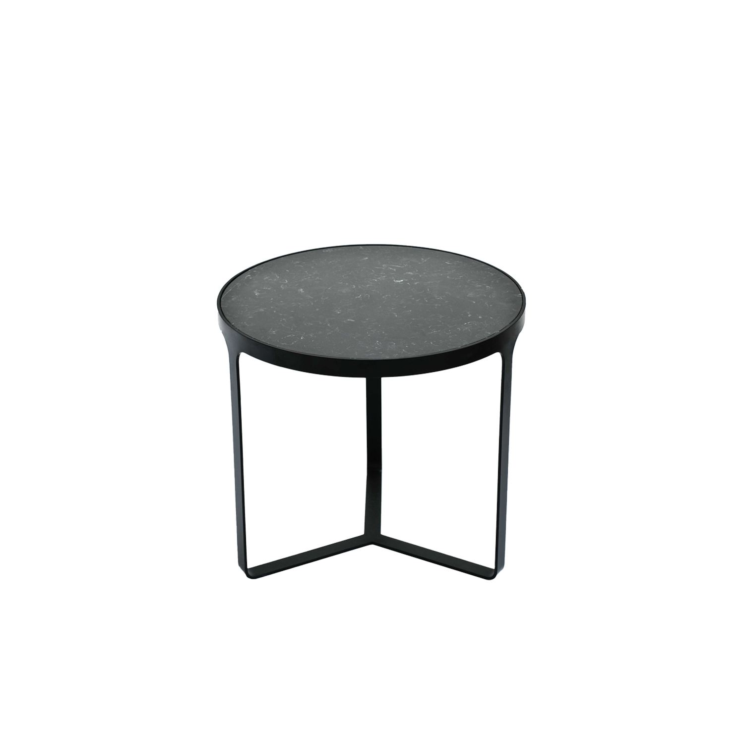 Cage Round Side Table  - Minimalism and elegance are the key features of Cage coffee tables, with their metal base that is both support and frame for the precious marble top. Cage tables can be round or square, high or low, and they accompany and complement all the sofas and armchairs in the Tacchini collections. The minimum order quantity is two. Please enquire for more information, finishes and prices.  | Matter of Stuff