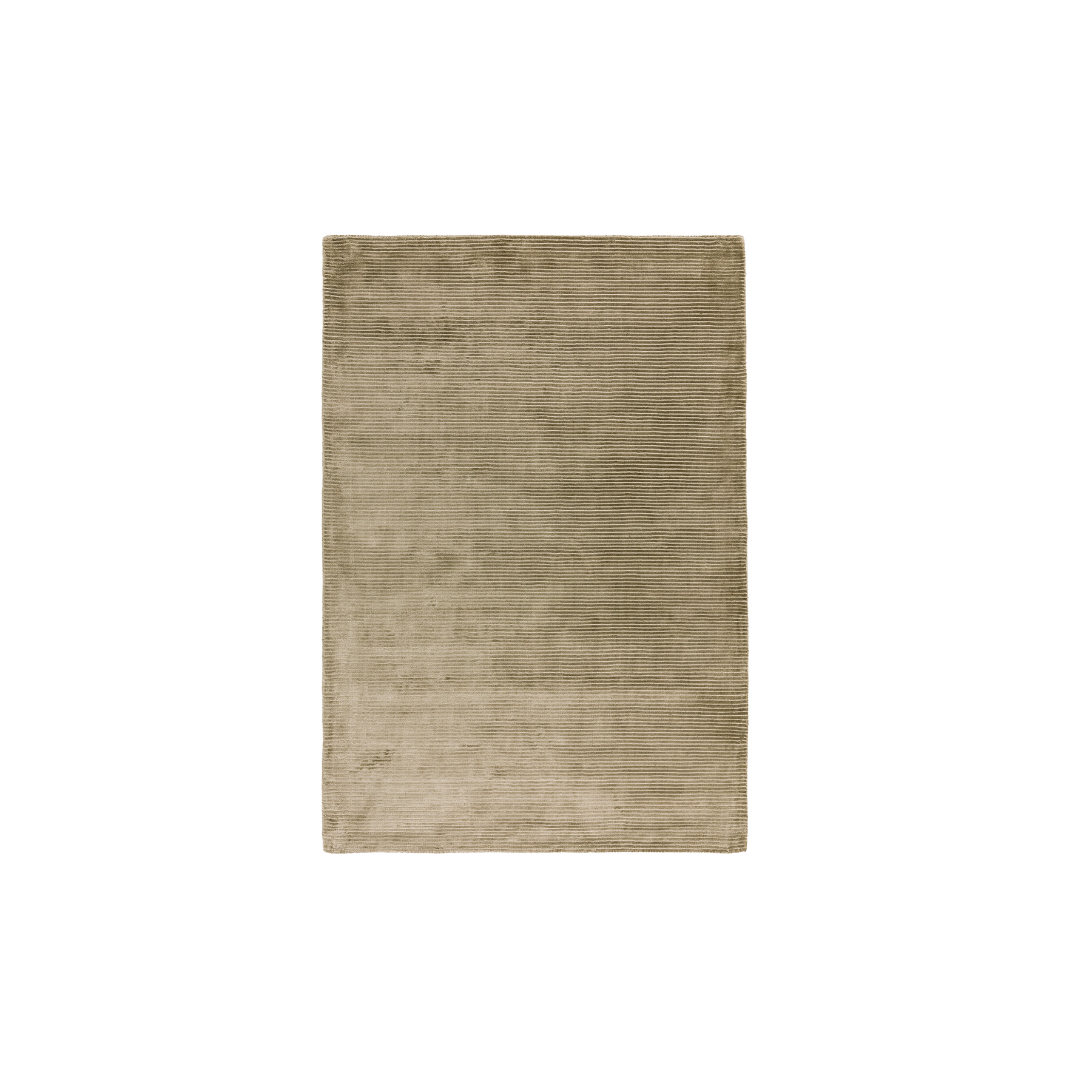Bellagio Taupe Rug - The Contemporary Plains Collection of plain rugs feature a largely neutral and natural palette of greys and creams with modern fashionable contrast tones added throughout. The use of clean lines and complementary borders adds visual interest whilst maintaining the contemporary ethos. The Bellagio rugs are Hand-woven viscose with loop stripe detail. Available in different sizes.  | Matter of Stuff