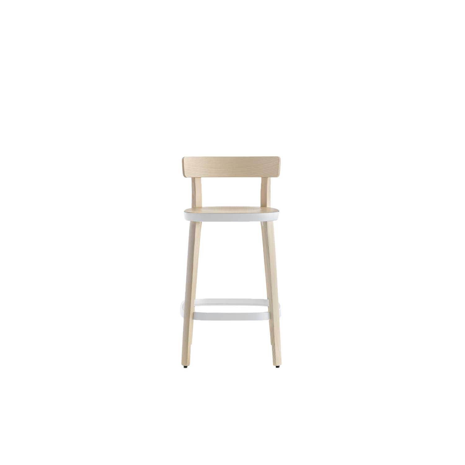 Folk High Stool - Folk collection accentuates the quest for simplicity. Its friendly character, the warmth of ash wood, the soft and compact dimensions, human lines seamlessly convey the concept of a chair that speaks a universal language. 