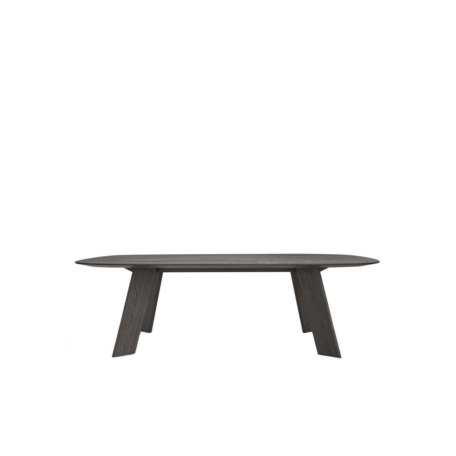 Alhambra 001 C Dining Table - Table in various sizes with shaped soap top, legs in unique section, lacquered or solid wood.   Matter of Stuff
