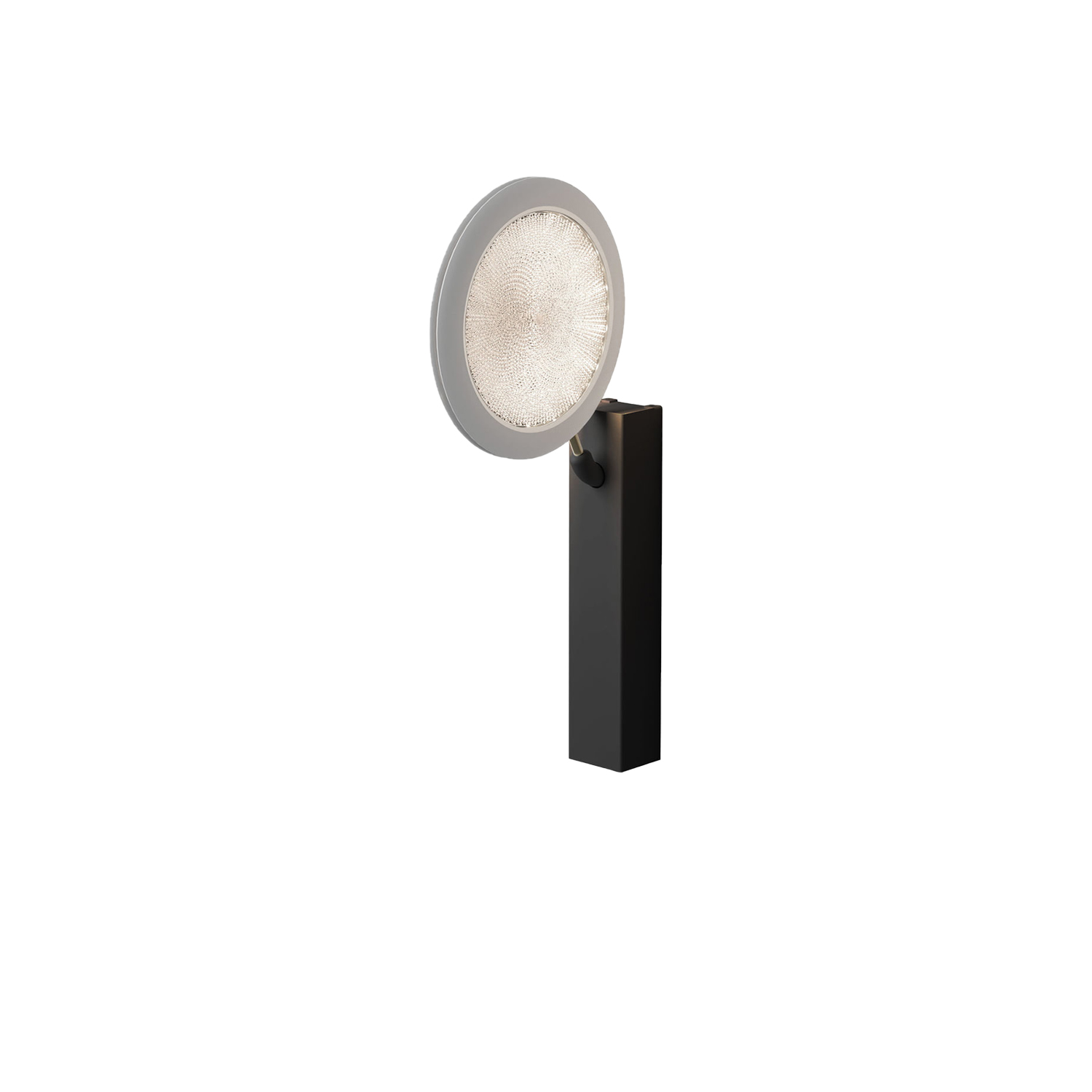 Fly-Too Wall Lamp - An ultraflat luminous disk, adjustable by 360° in space. Fly-too is an LED wall lamp that generates perfect bidirectional floodlighting. The methacrylate lens features a system for recovery of marginal light flow | Matter of Stuff