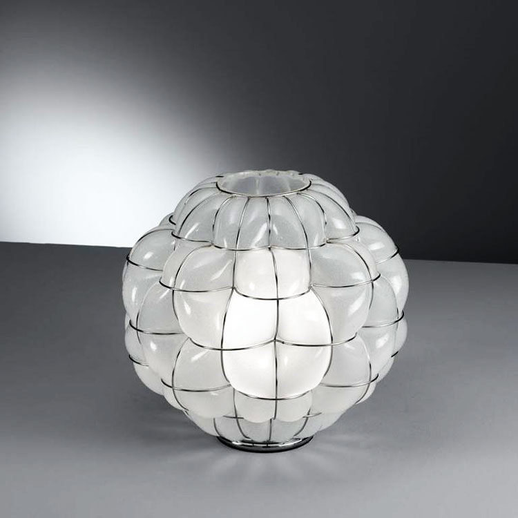 Pouff Floor Lamp - The design of this floor lamp means that you can decide where is best to have the light in a room. It adds to the personality of the room with its adaptability and free form shape. It is available in three finishes so that you can decide the best colour to suit your room. The light from this lamp will create ambience with its soft glow. Hand made blown glass suspension with the techniques of the old Murano glass masters.</p> <p>250V Input. 1X E27 max 100W ~ IP20  Bulbs</p>  | Matter of Stuff