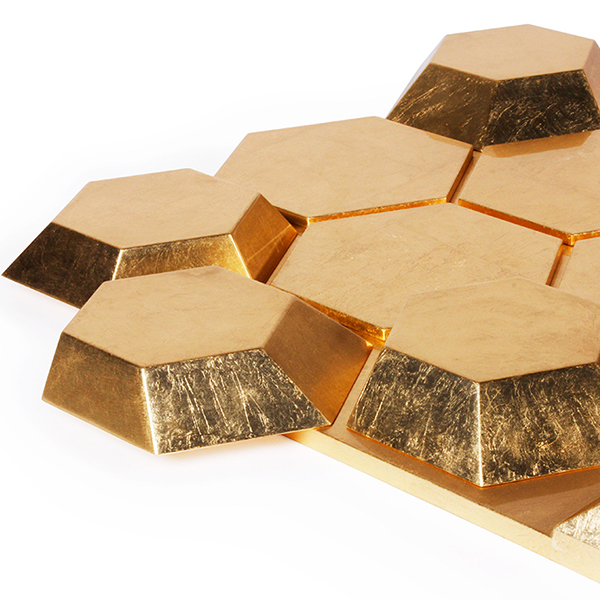 Honeycomb Mirror - <p>This luxurious and oversized mirror can turn your room into a unique place of gold experience. The glossy gold leafed structure is a bright idea to add a lot of luxury into your space.</p>  | Matter of Stuff
