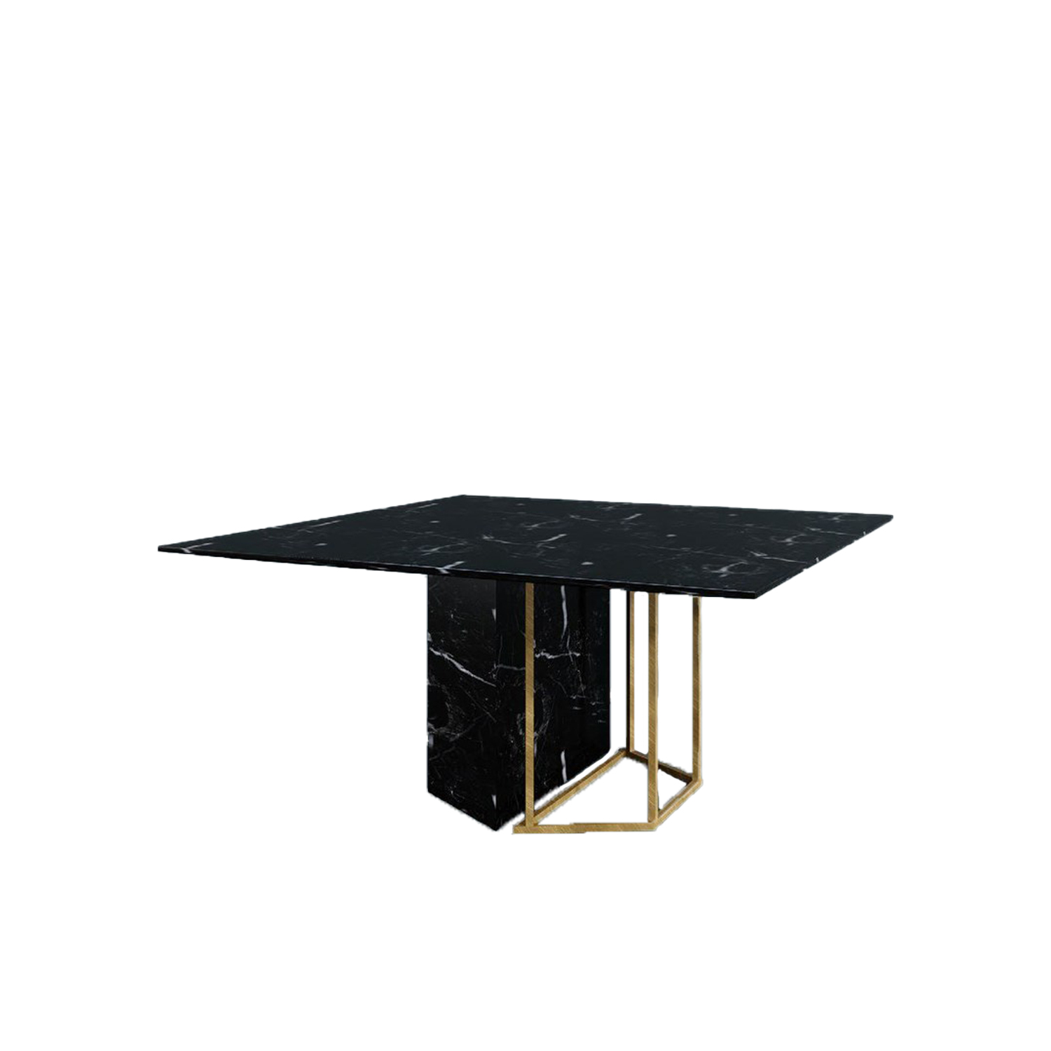 Plinto Square Dining Table - Dining tables with metal base with plinth. Tops in different models and dimensions.