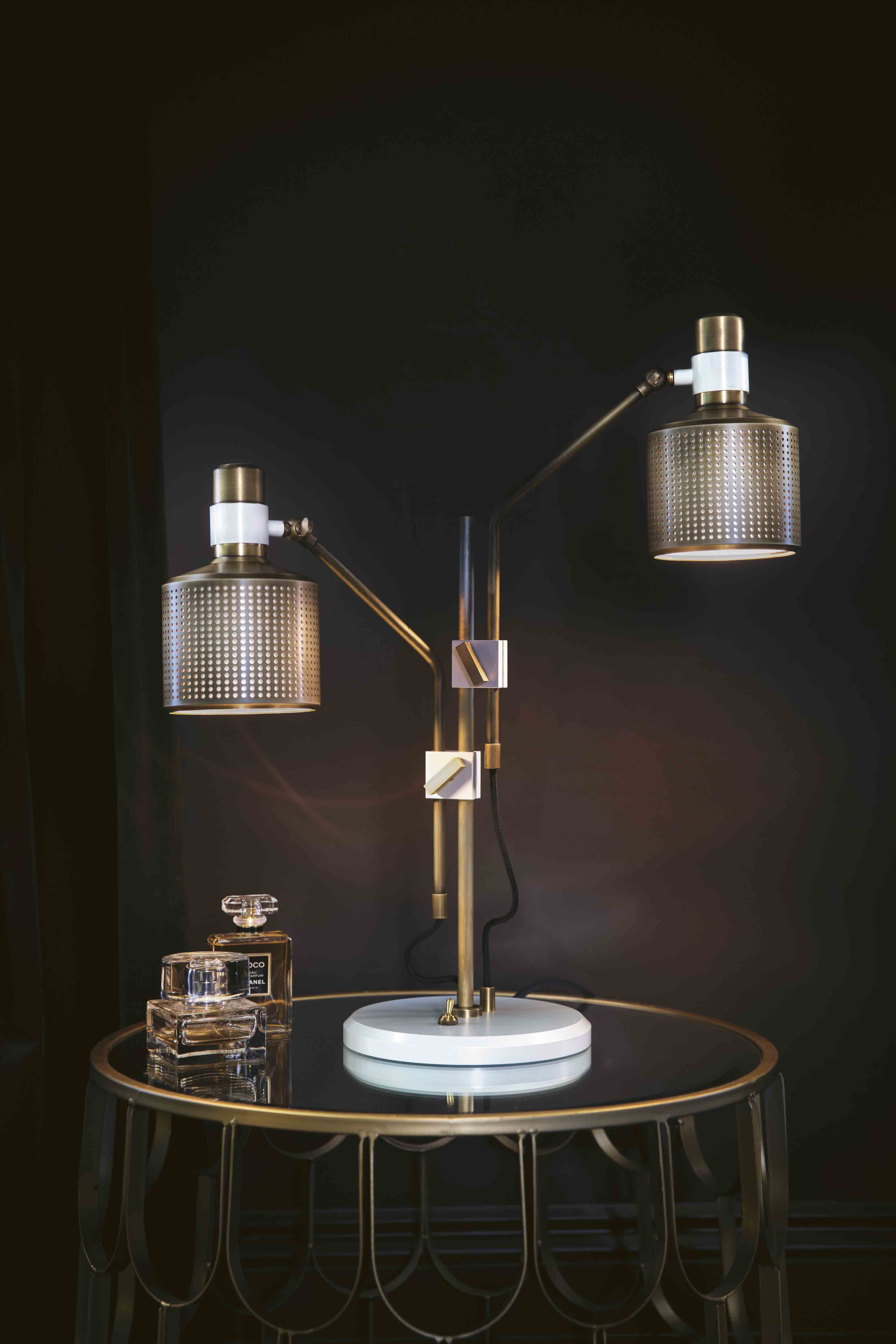 Riddle Table Lamp - Double
