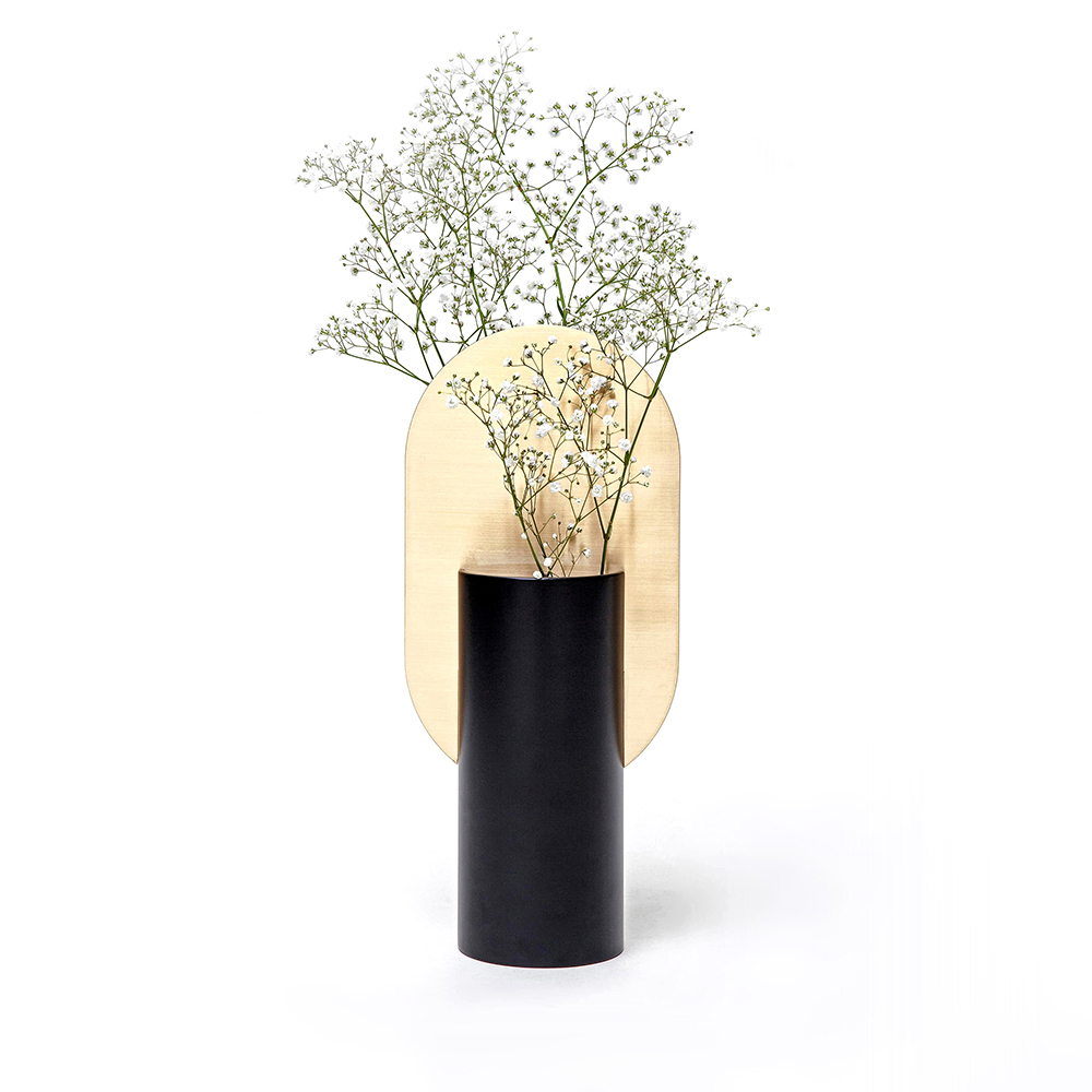 """Genke Vase CS1 - Genke vase, one of the vases from the """"Suprematic"""" collection. Collection inspired by the geometric works of the great Suprematist Kazimir Malevich. The geometric structure of the vase is not only a décor, but also functional divider and holder for flowers, which allow you to create elegant compositions. Even the empty vase will always look like a small art object in your house.  