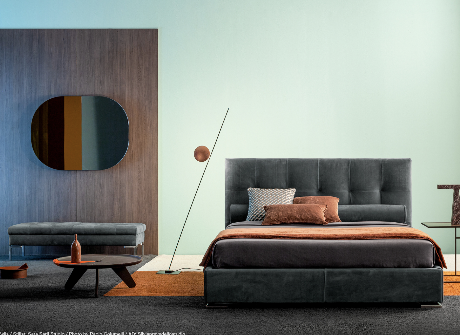 Lederam F1 Floor Lamp - Lederam embodies the accuracy of the motion required to draw a line. The warm, softly coloured disks surround a LED module with an ultra-flat shape, which creates thin lamps and suspended forms with curved, sinuous lines   Matter of Stuff