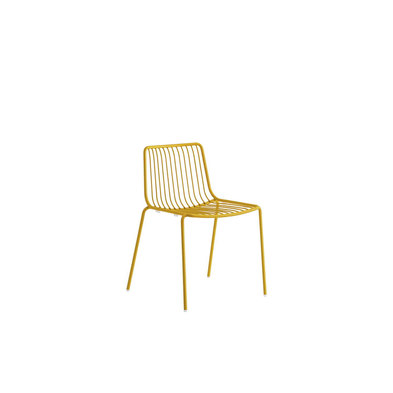 Nolita Chair - Nolita is a family of outdoor seatings which recalls the origins of a historic course started by Mario Pedrali in 1963 with his first metal garden chairs. Chair with low backrest, steel tube frame powder coated for outdoor use.