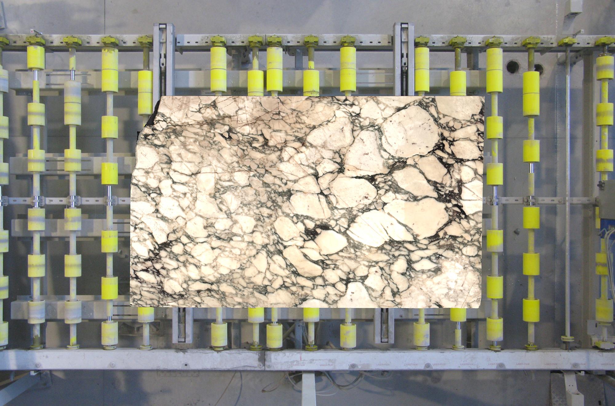 "Calacatta Fiorito Vagli - Sourced from our craftsmen quarries in Tuscany.It features ovulated veining in shades of grey, green, purple and brown on a white background. <ul>  <li>Ultimate tensile strength (UTS) to pressure stress: 1.137 Kg/Cm2</li>  <li>Ultimate tensile strength (UTS) after freezing cycles: <span class=""s2"">1.082</span>Kg/Cm2</li>  <li>Ultimate tensile strength (UTS) to bending stress: <span class=""s2"">86</span>Kg/Cm2</li>  <li>Thermic linear dilatation 10-6 per °C : <span class=""s2"">7,5</span></li>  <li>Water absorption coefficient % in WeighT: <span class=""s1"">0,20</span></li>  <li>Weight per unit volume:2.679 Kg/m3</li>  <li>Impact strength:36,3 Cm</li>  <li>Module of linear elasticity: 443.000 Kg/Cm2</li>  <li>Abrasion strength: 8,80 mm</li> </ul> | Matter of Stuff"