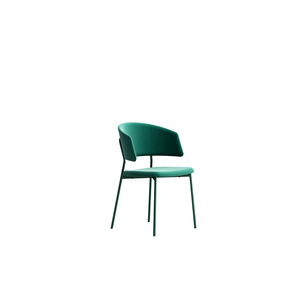 Wrap Steel 6C70 Chair - The metal-chic collection that manages to combine elegance with simplicity. Comfortable and functional, Wrap Steel emits signs of a transversal style. Chair comes in a lacquered steel frame, with fabric, leather or eco-leather upholstery. Brass finish for the frame is available too.   | Matter of Stuff