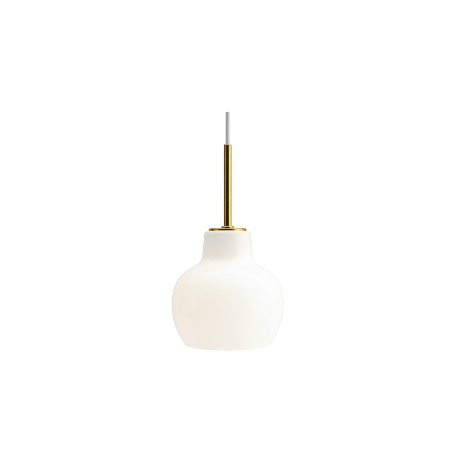 VL Ring Crown 1 Pendant Light - The pendant emits light directed primarily downwards. The opal glass provides a comfortable and uniform illumination of the area around the fixture.   | Matter of Stuff