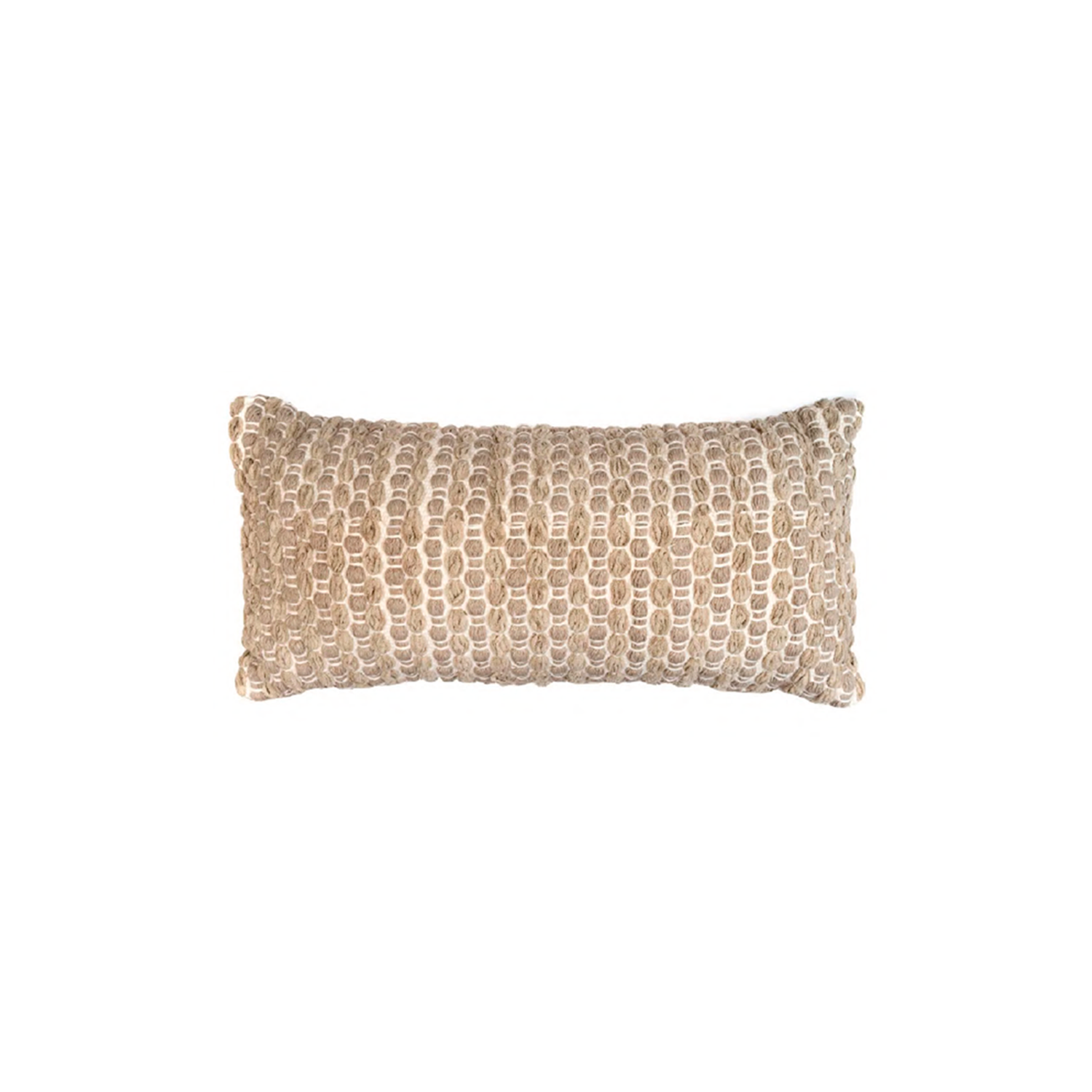 Estrela Terra Cotton Cushion Small - The Flame Sustainable Collection is made from a selection of organic cotton fibres, eco-friendly, hand-woven or elaborated using traditional hand-loom techniques. Carefully knitted within a trained community of women that found in their craft a way to provide their families.  This collection combines Elisa Atheniense mission for responsible sourcing and manufacturing. Each piece is meticulously hand-loom by artisans who practised methods with age-old techniques. With a minimal electricity impact, each item crafted is therefore unique and exclusive. Weavers and artisans are the ultimate lifelines of Elisa Atheniense Home Products.  The hand woven cotton, washable cushion cover is made in Brazil and the inner cushion is made in the UK.   | Matter of Stuff