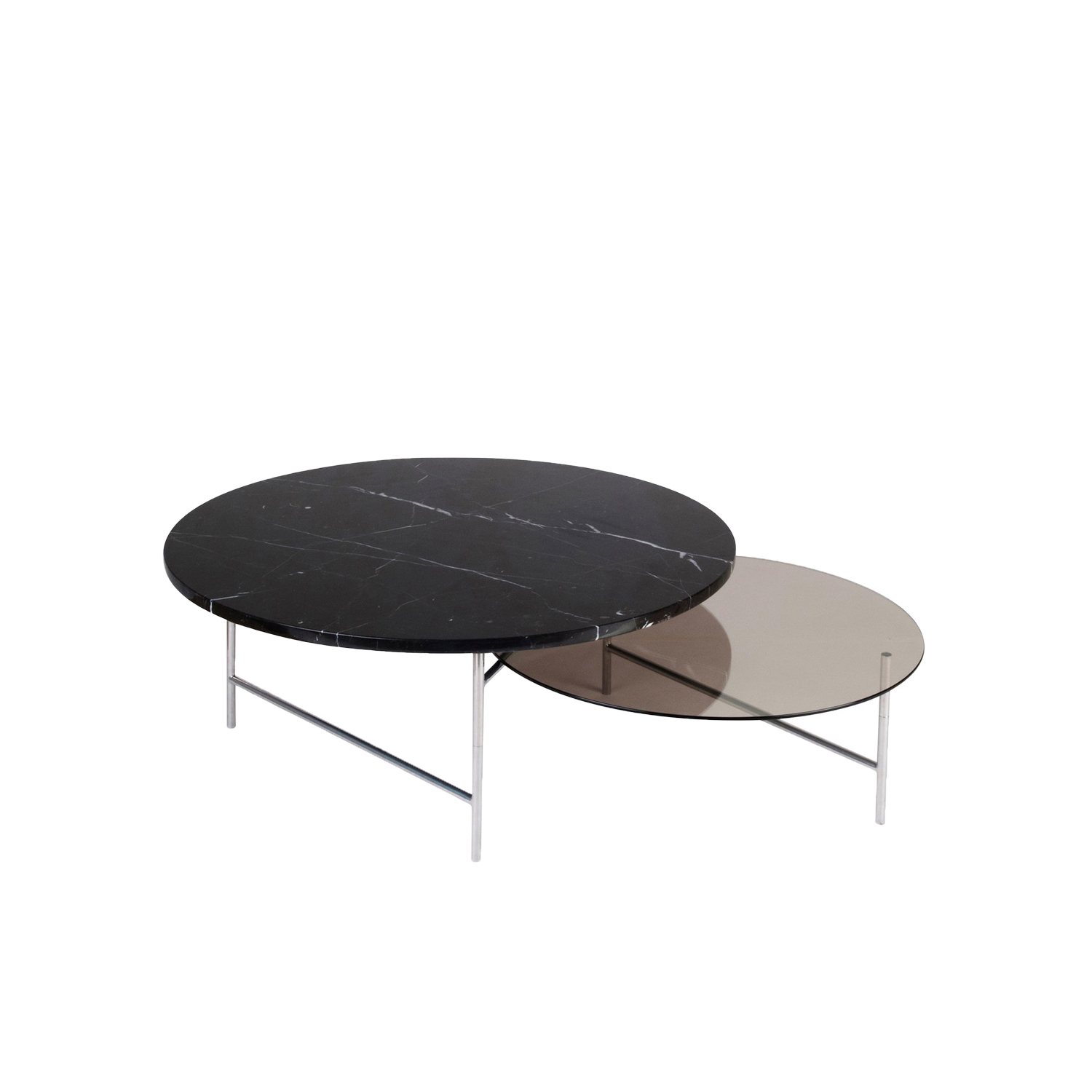 Zorro Coffee Table - Zorro is a coffee table. Its minimalist and ingenious Z structure supports two overlapping trays reflecting one another. This very graphical table gives an impression of lightness and of movement. Zorro can also be combined and grow infinitely.  | Matter of Stuff