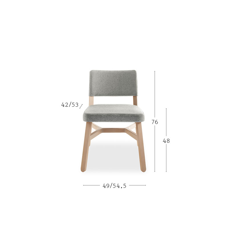 Croissant Chair - <p>A crucial thought. A refined sense of belonging unites the entire Croissant collection, a recurring design, the crosspiece which distinguishes all the seating, as well as the tables.<br /> From the dining table to lounge areas, from restaurant bars and lobbies to privating dining: a complete<br /> collection.</p> <p>Lounge chair, sofa, bench and pouffe with frame in stained or lacquered beechwood, upholstered. </p> <p>A range colours and finishes are available in a number of combinations. Prices may vary.<br /> Please enquire for full details.</p>  | Matter of Stuff