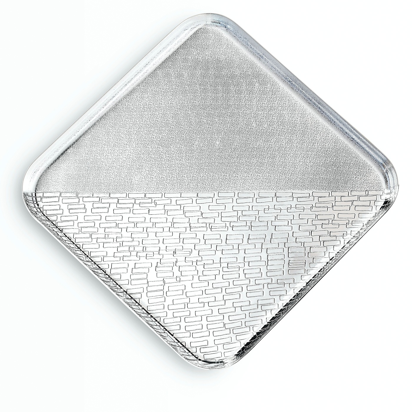 Oblio Square Tray - This elegant object of functional decor can be used to serve drinks or food, to display collectables on a table or as a vide posh | Matter of Stuff
