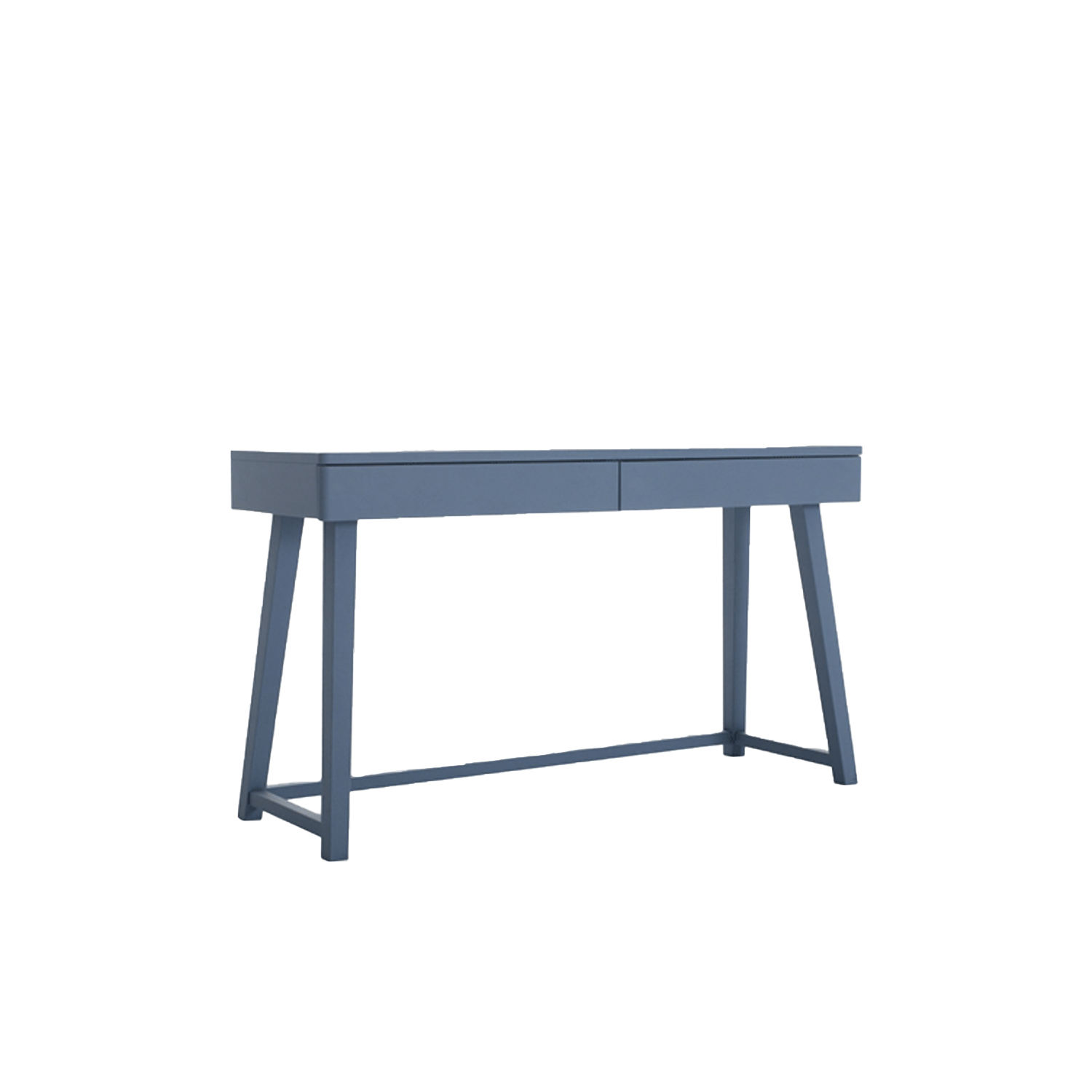 """Gray 50 Desk - The Gray collection is a combination of apparently incompatible elements achieving a result which is contemporary, poetic and attractive. Gray takes inspiration from two styles, the neo-classic gustavian and the scandinavian one from the seventies. Armchairs, sofas, tables, beds and storages are the elements of this line made of a material such as turned and shaped wood, woven fibre, slate, china, marble and mirror. The plain elegance of the XVIII century furniture melts with the sobriety of the scandinavian design, which is more familiar to us. The wooden surfaces are mat and chalky, lead grey and white. grey and white are also the colours f the striped fabrics covering the models and the knit made jacquard patterns used for the cushions. Crochet laces are the decoration of the mirror front doors of the storages. China and natural american walnut are the materials which give harmony to the complete line. Gray integrates """"gustavian"""" and """"scandinavian"""" styles into a harmonium and contemporary collection of casual furniture. Armchairs, sofas, tables, beds and storages are the elements of this line made of materials such as turned and shaped wood, slate, china, marble and mirror. 