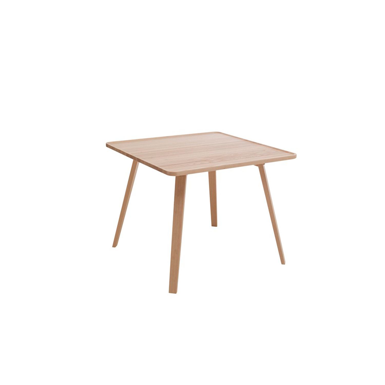 Mill Square Table - Mill (2012) is a table with a solid wooden top and legs. The tabletop has been milled down to produce its distinctive appearance. Mill is available with a round, square or rectangular top in a number of different sizes and in heights of 460, 590 and 720 mm. The table is made of solid wood, so it can be sanded down and relacquered a number of times, making it suitable for use in settings where it is subjected to a lot of wear and tear.  Mill comes in a choice of oak, birch, ash, standard stains on ash and white glazed oak or ash. The table is also available in standard colors with tabletop made in MDF. Special sizes and other finishes upon request. You can use Mill to furnish cafés, kitchens and living rooms, or in hotels, schools, waiting areas etc.  Additional heights and dimensions are available, please see technical sheet attached and enquire for more details. | Matter of Stuff