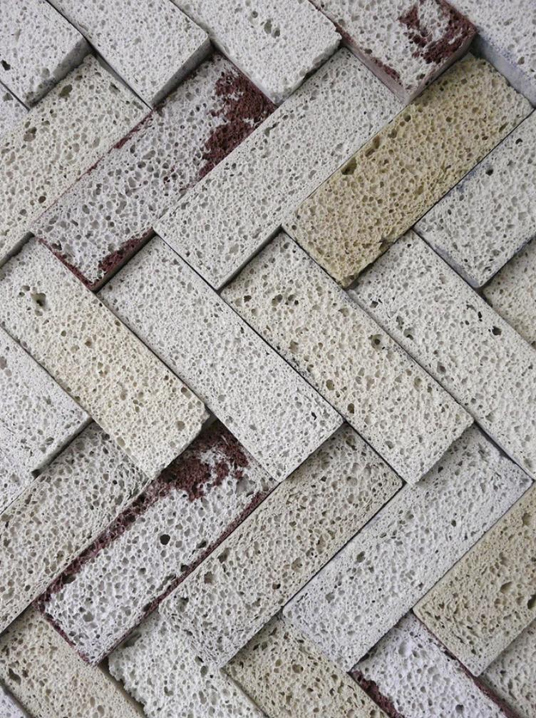 Glass Foam Tiles yellow