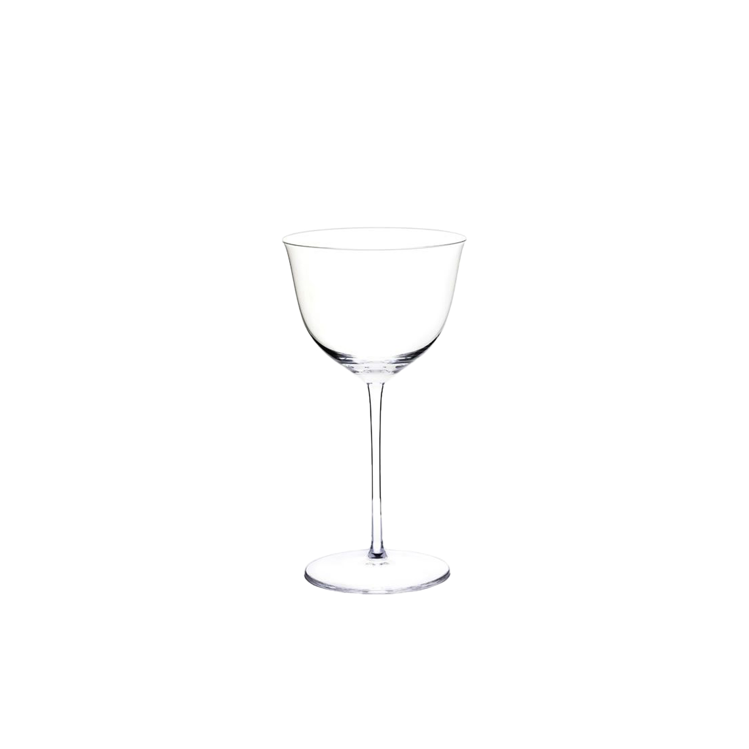 Drinking Set No.238 Wine Glass I - Set of 6 - The perfectly flowing contours of these original Hoffmann shapes make this muslin glass service a classic. Josef Hoffmann designed the elegantly balanced glasses for Lobmeyr as early as 1917. The material, extremely delicate muslin glass, hand-blown in wooden shapes, gives the series its elegance.  | Matter of Stuff