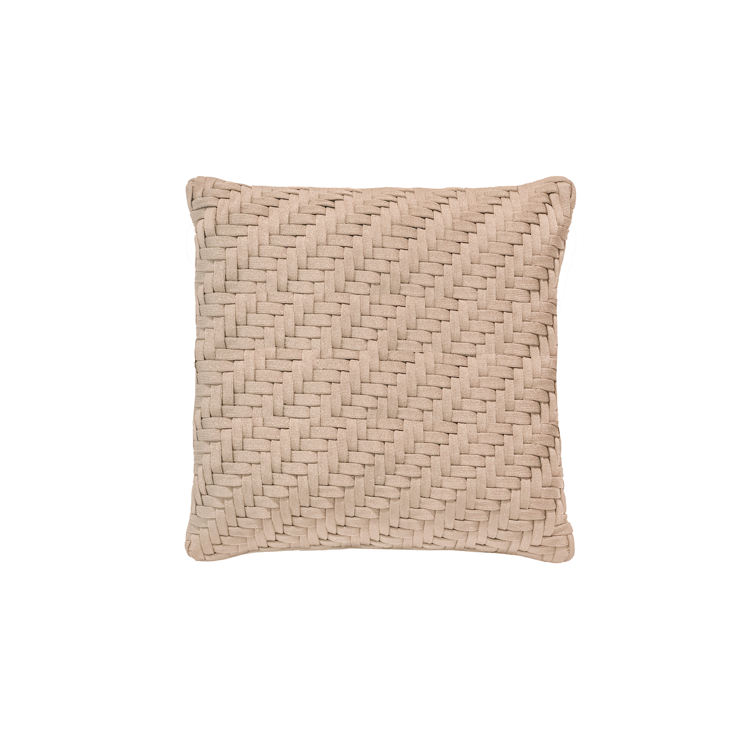 Asper Neo Cushion Square - The Asper Neo Cushion is carefully knitted within a trained community of women that found in their craft a way to provide for their families. The outdoor collection is made with synthetic fibres, resistant to weather exposure. The use of neoprene brings comfort and technology to the cushions.  The front panel is in neoprene combined with hand woven nautical cord, made in Brazil.  The inner cushion is in Hollow Fibre, made in the UK.  Please enquire for more information and see colour chart for reference.  | Matter of Stuff