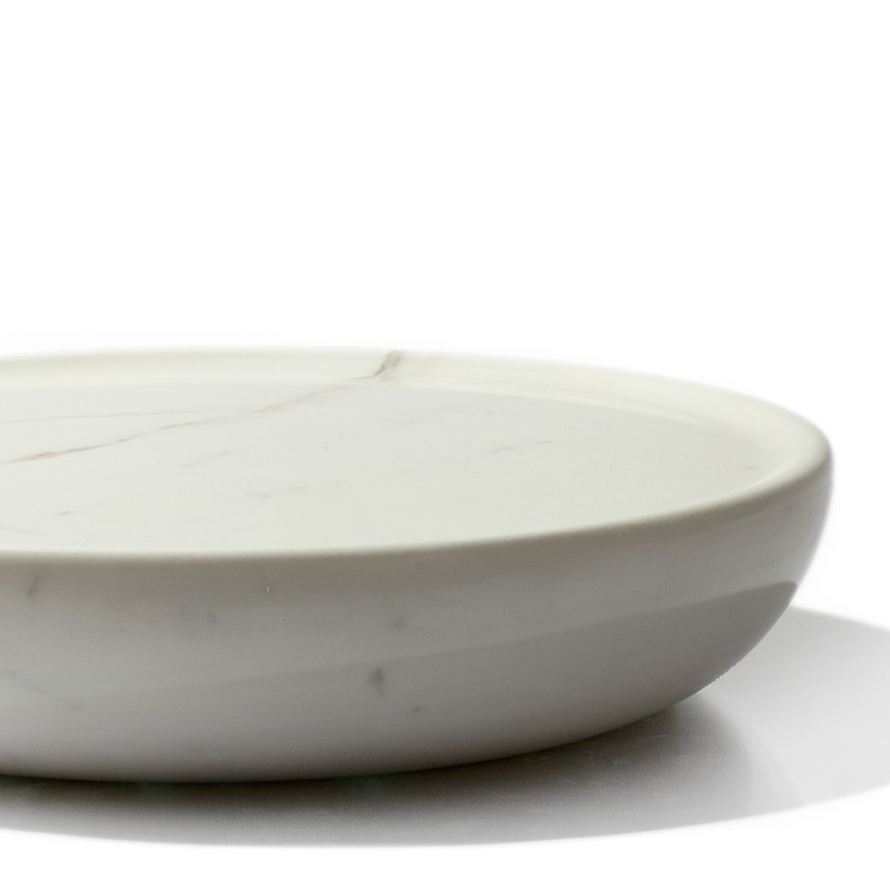 Full Bowl - <p>Full bowls are on the point of overflowing.<br /> The precious marble is crafted into a form that makes a liquid form solid.<br /> They function normally as bowls only sharing the expected volume with the object itself.<br /> This makes them ideal for displaying small amounts of beautiful food or objects.<br /> Each full bowl is hand-turned in Italy from marble. Variations in grain and colouring make each bowl unique.</p>  | Matter of Stuff