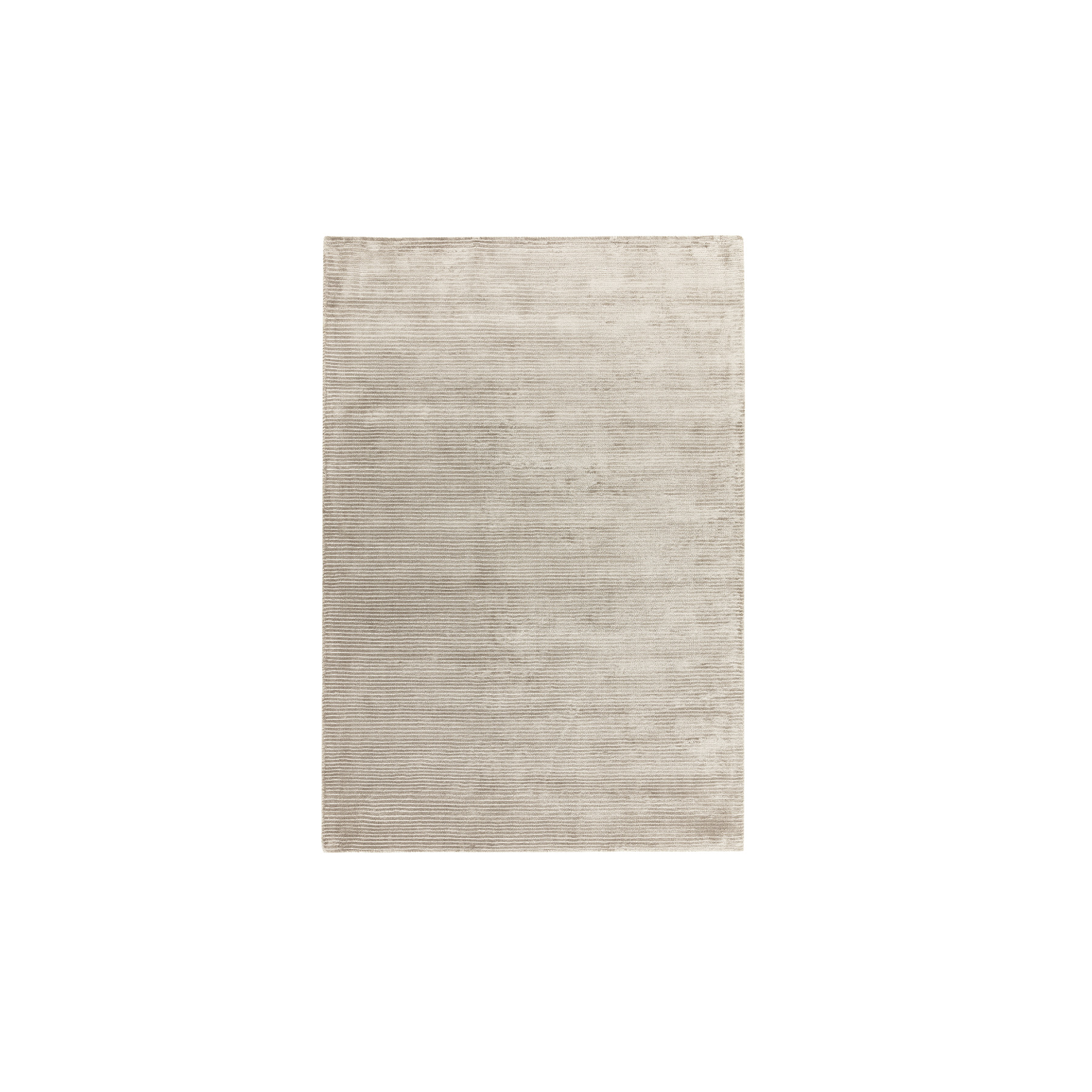 Bellagio Biscuit Rug - The Contemporary Plains Collection of plain rugs feature a largely neutral and natural palette of greys and creams with modern fashionable contrast tones added throughout. The use of clean lines and complementary borders adds visual interest whilst maintaining the contemporary ethos. The Bellagio rugs are Hand-woven viscose with loop stripe detail. Available in different sizes.  | Matter of Stuff