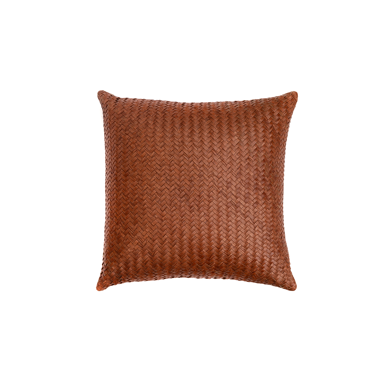 Aspen Croco Woven Leather Cushion Square - The Aspen Croco Woven Leather Cushion is designed to complement an ambient with a natural and sophisticated feeling. This cushion style is available in pleated leather or pleated suede leather. Elisa Atheniense woven handmade leather cushions are specially manufactured in Brazil using an exclusive treated leather that brings the soft feel touch to every single piece.   The front panel is handwoven in leather and the back panel is 100% Pes, made in Brazil.  The inner cushion is available in Hollow Fibre and European Duck Feathers, made in the UK.  Please enquire for more information and see colour chart for reference.     | Matter of Stuff