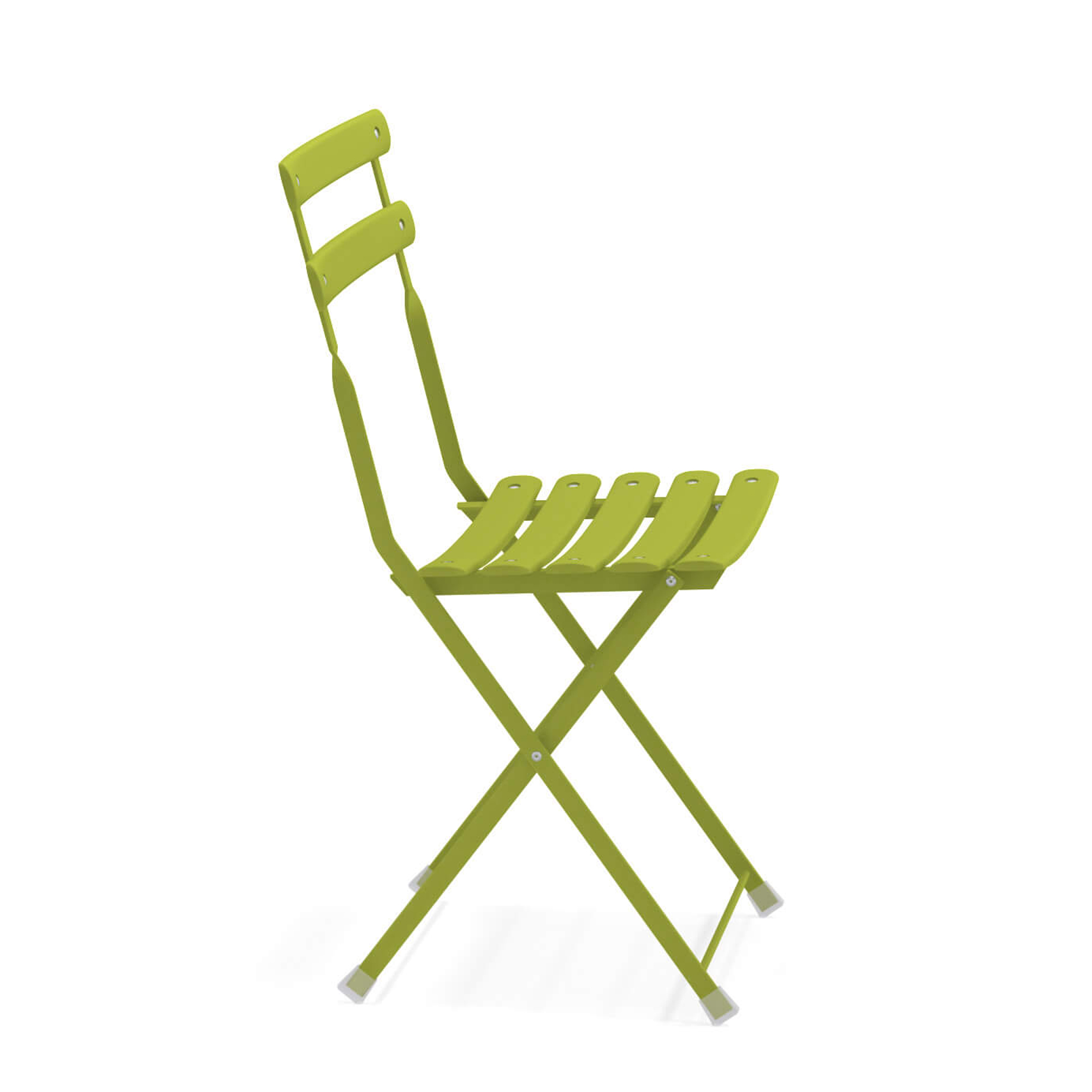 Arc en Ciel Folding Chair - Set of 2 - <p>A range of colourful solutions to outdoor living, equally suited to balconies at home or large green gardens. Different sized tables, chairs with or without armrests and footrests, all of which can be folded making this furniture both informal and dynamic. This collection, made from steel, is full of bright, eye-catching solutions that enliven every context thanks to the wide choice of colours available.</p>