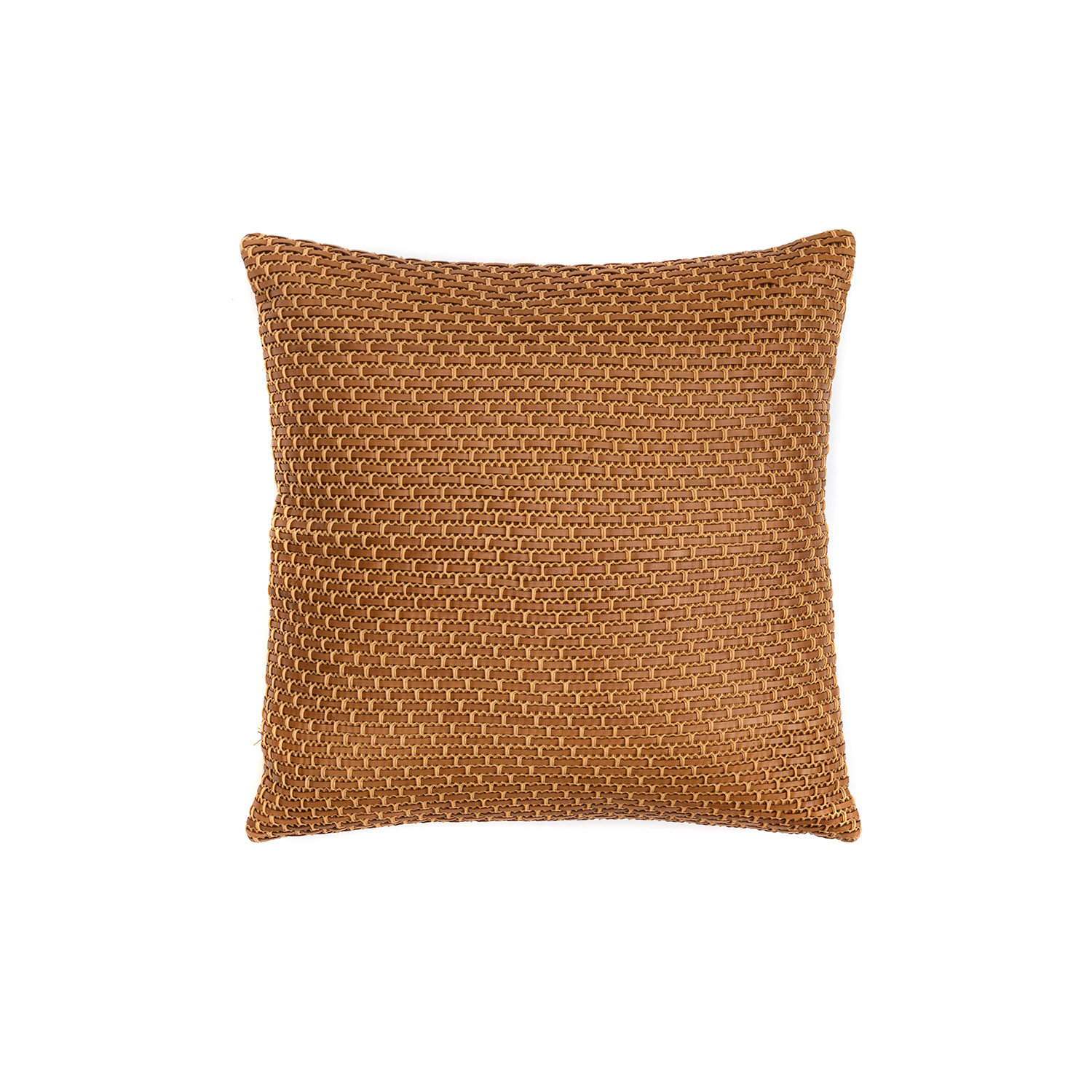 Tela Woven Leather Cushion Square - The Tela Woven Leather Cushion is designed to complement an ambient with a natural and sophisticated feeling. This cushion style is available in pleated leather or pleated suede leather. Elisa Atheniense woven handmade leather cushions are specially manufactured in Brazil using an exclusive treated leather that brings the soft feel touch to every single piece.   The front panel is handwoven in leather and the back panel is 100% Pes, made in Brazil.  The inner cushion is available in Hollow Fibre and European Duck Feathers, made in the UK.  Please enquire for more information and see colour chart for reference.   | Matter of Stuff