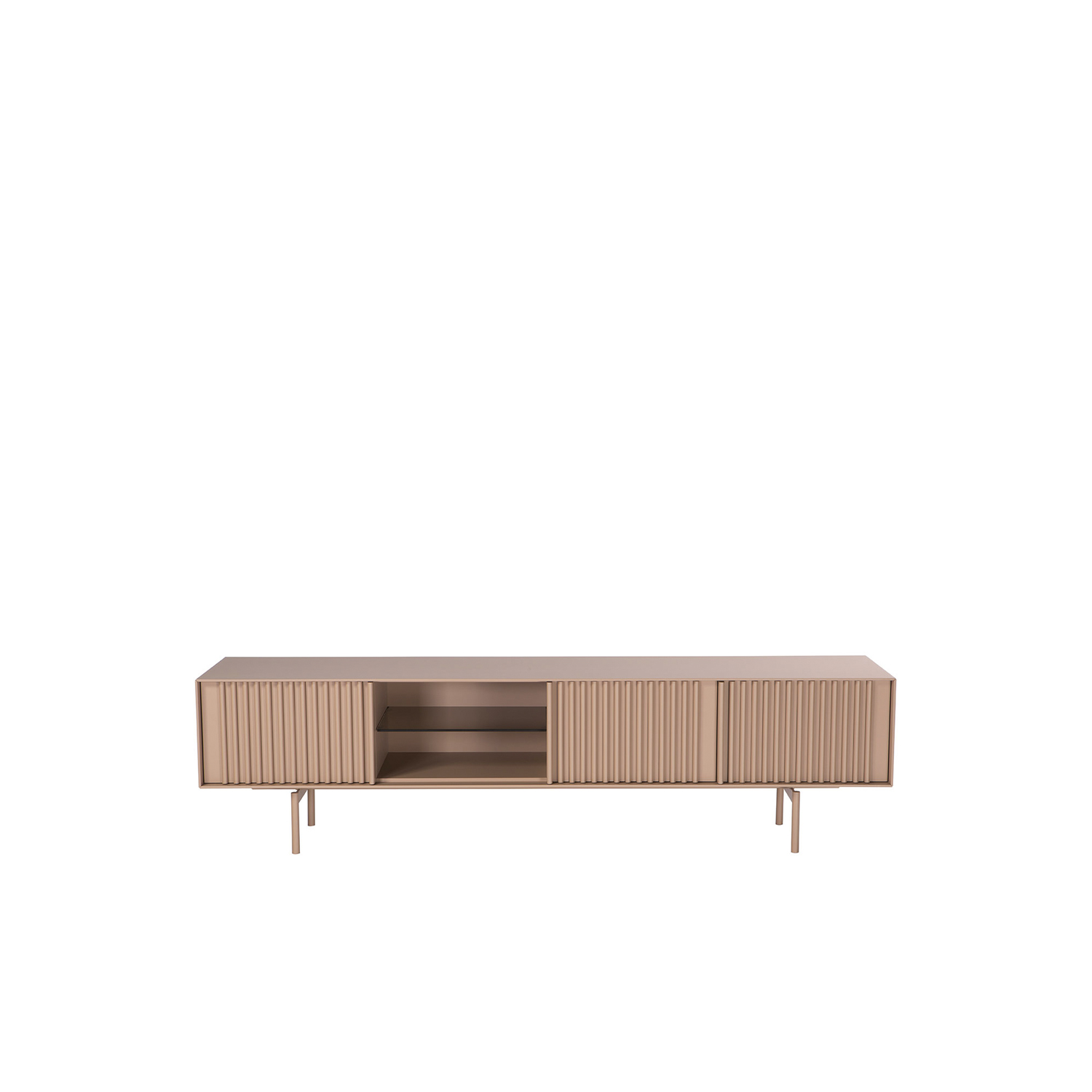Ka-Bera 005 Sideboard - T.V. unit in various sizes - sideboard with open space with glass shelf and 3 doors.