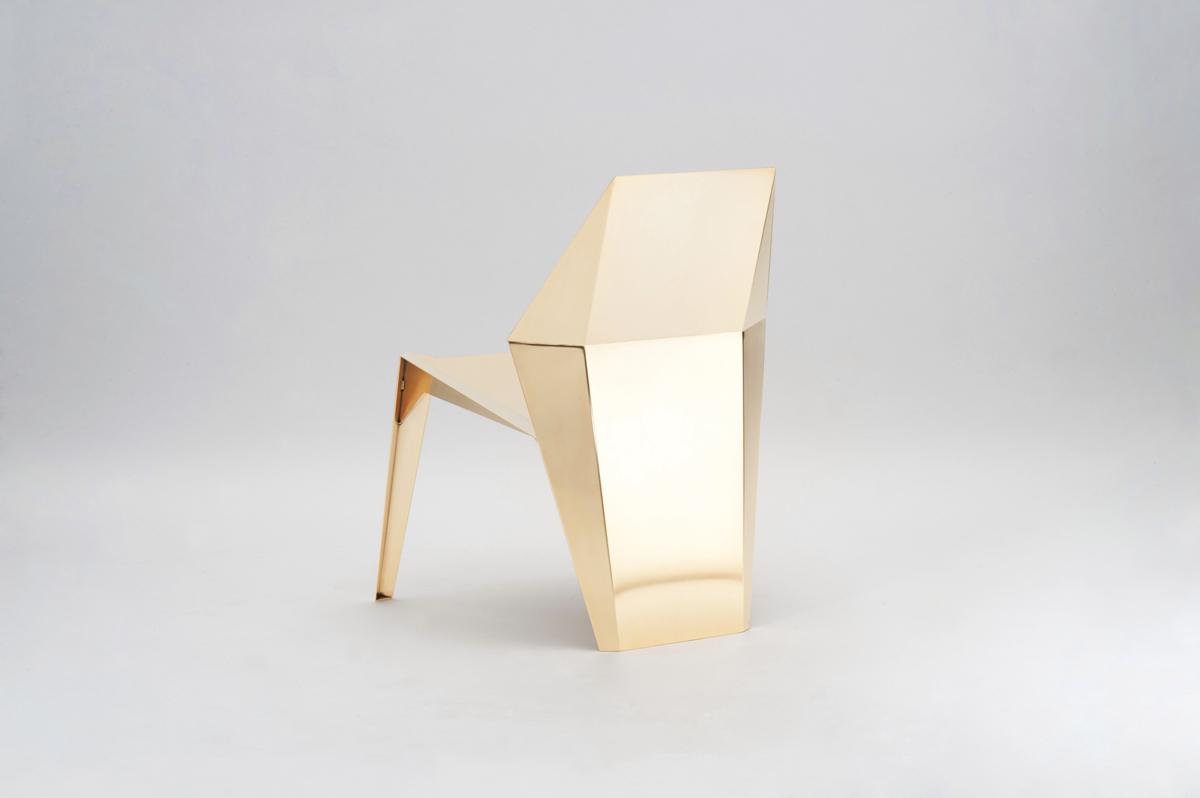 Centaurus Chair - Gold Limited Edition - <p>A beautiful, unique jewel, like a sculpture, perfect for any interior style. Made by 2 mm thick steel plates, laser cut, bent and shaped, welded and ground. The finishing consists of different steps, so to achieve the perfection required for such an exclusive product; the last touch is always handmade, to get a perfect result, with a soft satin finish, reflective but not mirror-like. </p>  | Matter of Stuff