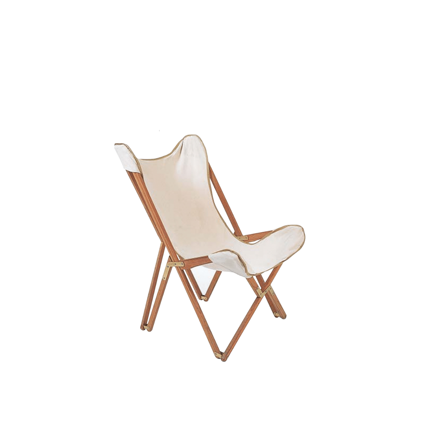"""Emy Cotton Chair  - Emy outdoor chair in 100% cotton canvas colour.   The inspiration came from the so-called """"Tripolina"""", created in the 19th century but reproduced by Italians in Libya in the 30s for camp life in the desert. The distinctive features of the Emy small armchair are its classic style and strong personality.  Also available in leather for indoor use in five different shades, Emy leather armchairs are unique, exclusive and refined products for elegant interior design furnishing.     Matter of Stuff"""