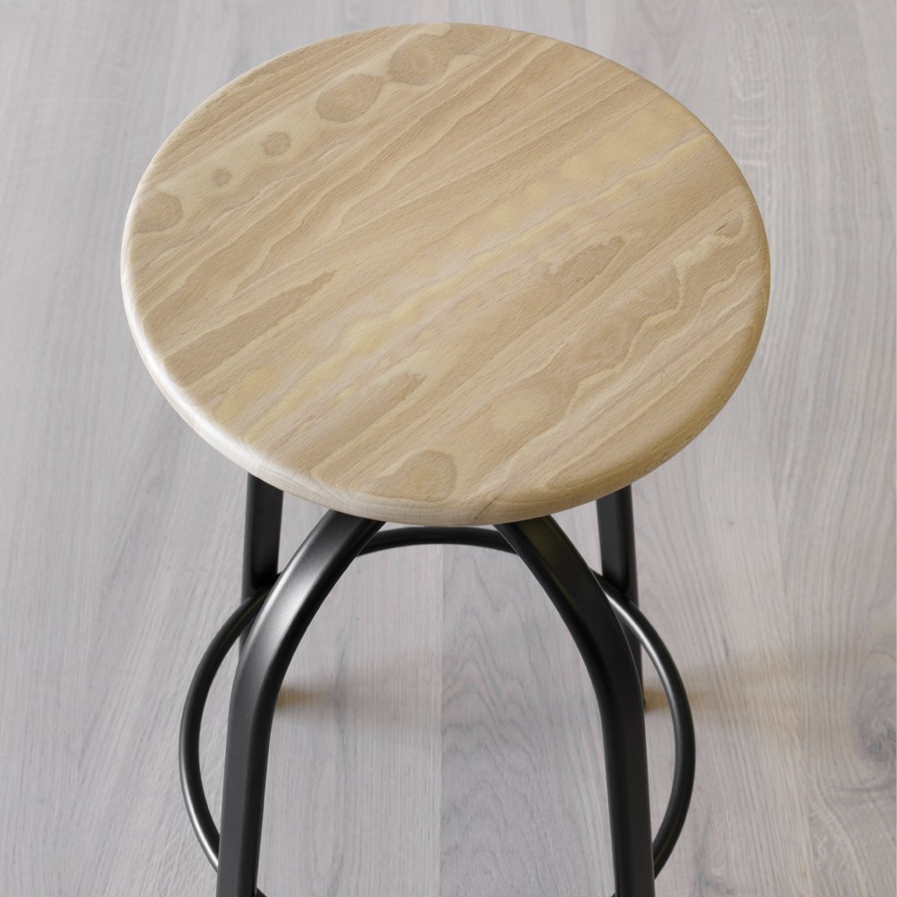 Ferrovitos Stool - Drawing its inspiration from the stools used in the past in Italian schools, this essential item knows when to appear discreet and when to dare a brightly coloured frame.  | Matter of Stuff