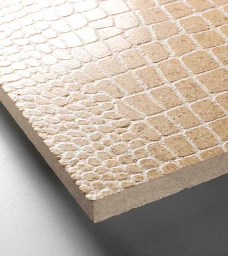 Grolla Beige Crocodrillo - Grolla hard limestone, the company's flagship product, is a versatile and resistant material because it lends itself to all types of processing.