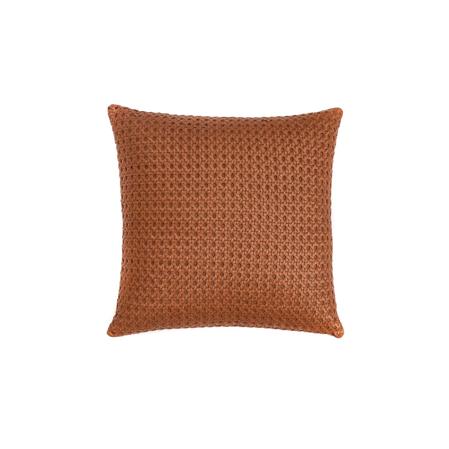 Mini Catavento Woven Leather Cushion Square - The Mini Catavento Woven Leather Cushion is designed to complement an ambient with a natural and sophisticated feeling. This cushion style is available in pleated leather or pleated suede leather. Elisa Atheniense woven handmade leather cushions are specially manufactured in Brazil using an exclusive treated leather that brings the soft feel touch to every single piece.   The front panel is handwoven in leather and the back panel is 100% Pes, made in Brazil.  The inner cushion is available in Hollow Fibre and European Duck Feathers, made in the UK.  Please enquire for more information and see colour chart for reference.   | Matter of Stuff